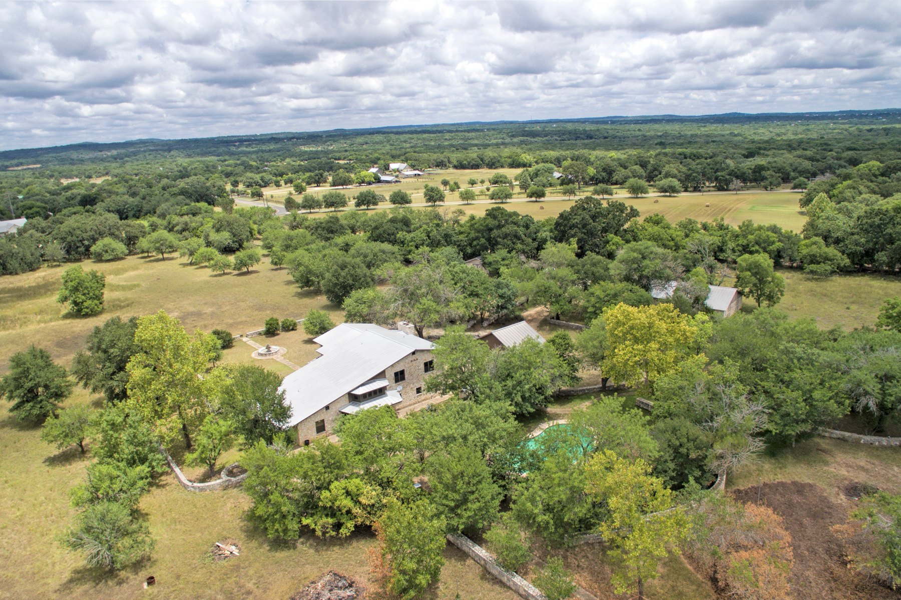 Single Family Home for Sale at Rock Home on 10+ Acres In Boerne 125 Ranch Dr, Boerne, Texas, 78015 United States