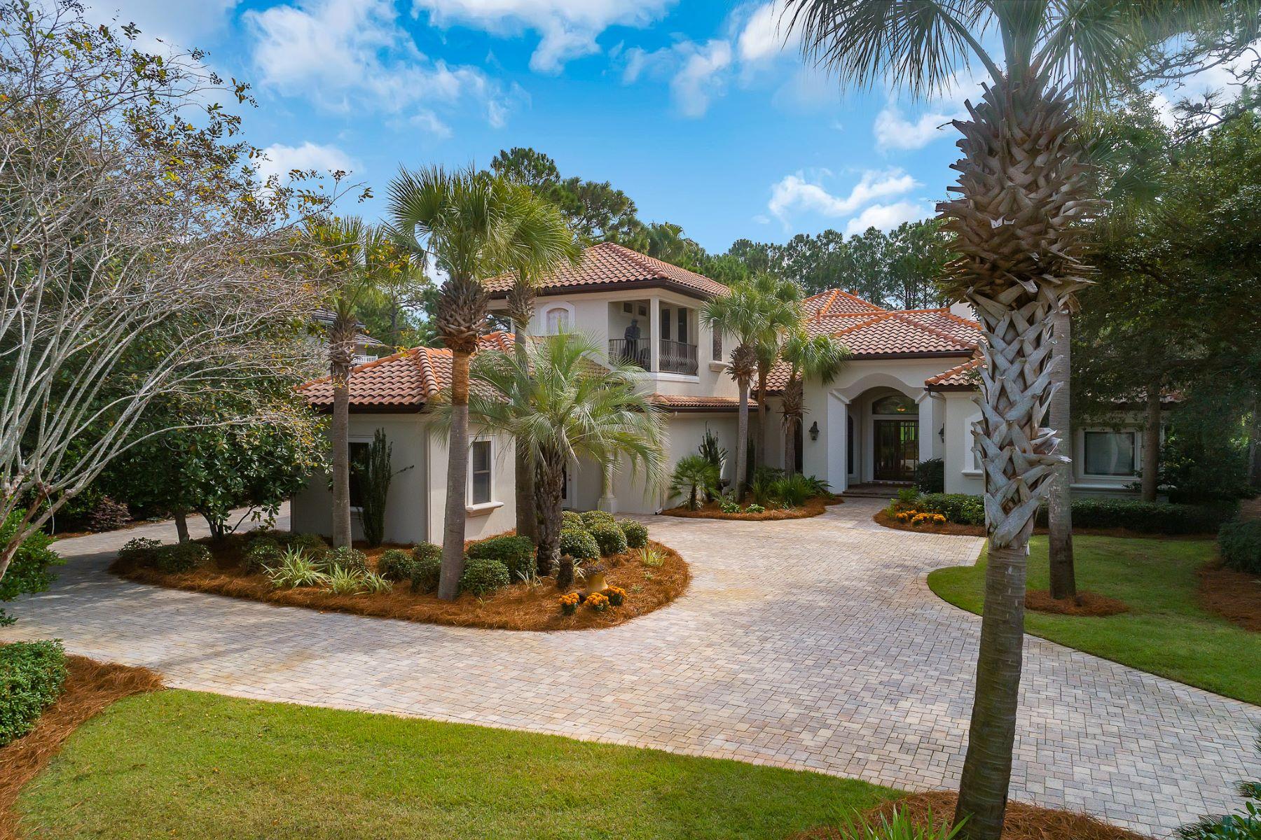 Single Family Homes for Sale at Elegantly Custom Designed Home in Burnt Pine 3277 Burnt Pine Circle Miramar Beach, Florida 32550 United States