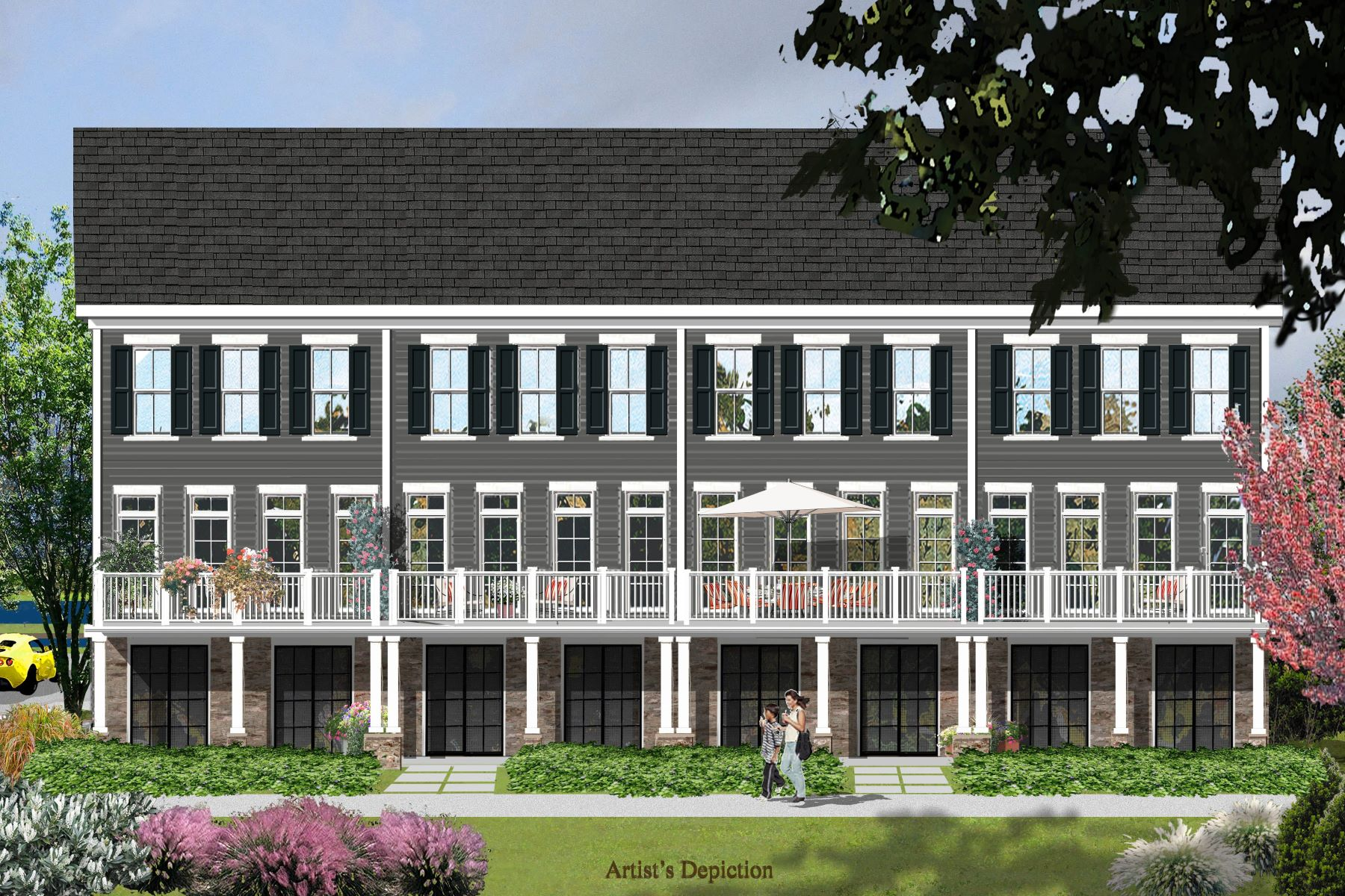 townhouses для того Продажа на Luxury Townhome Living Along The Delaware 8 River Mills Drive, Frenchtown, Нью-Джерси 08825 Соединенные Штаты