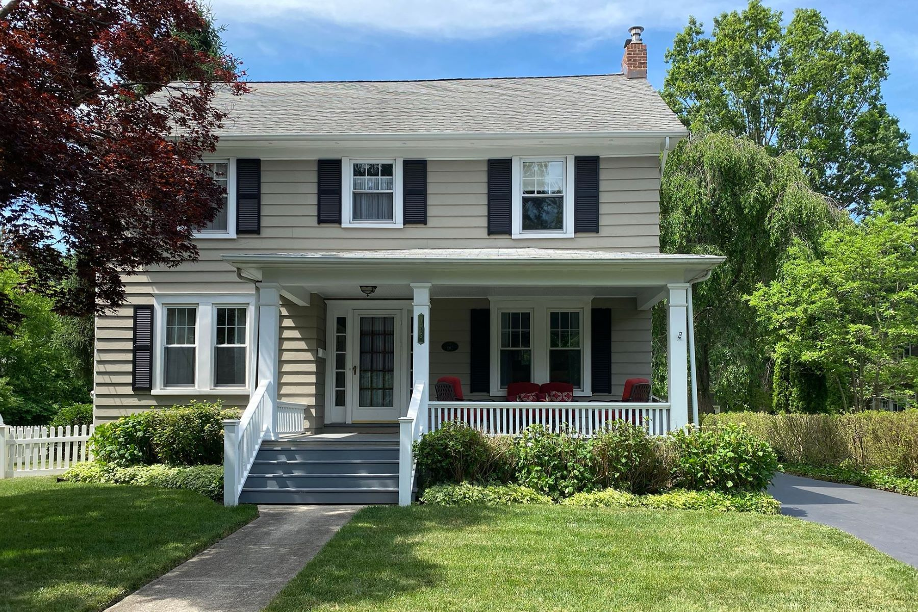 Single Family Homes for Sale at Period Home Has Smart Updates & Seamless Addition 105 West Welling Avenue, Pennington, New Jersey 08534 United States