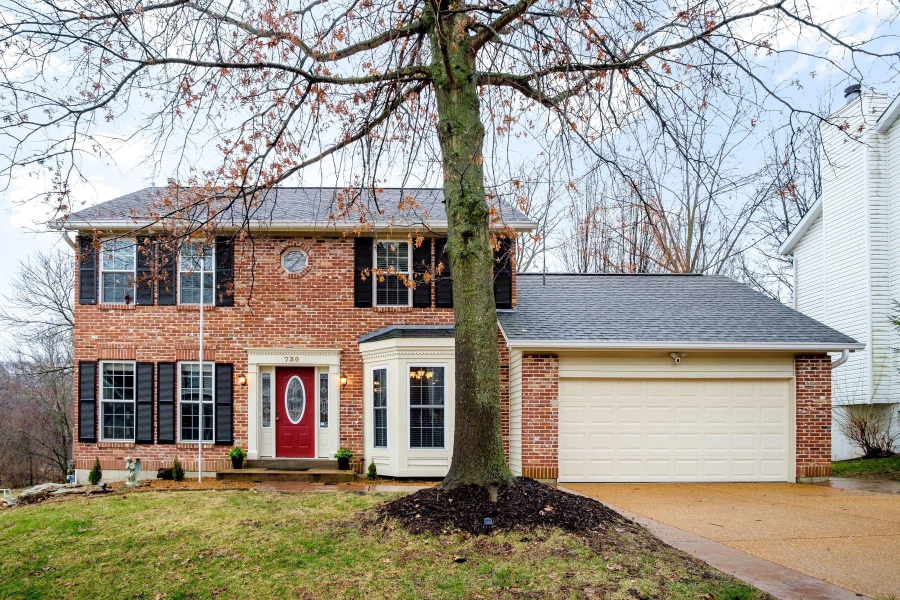Single Family Homes für Verkauf beim Westbrooke Two-Story with Impressive Backyard 730 Spring Hill Farm Drive, Ballwin, Missouri 63021 Vereinigte Staaten