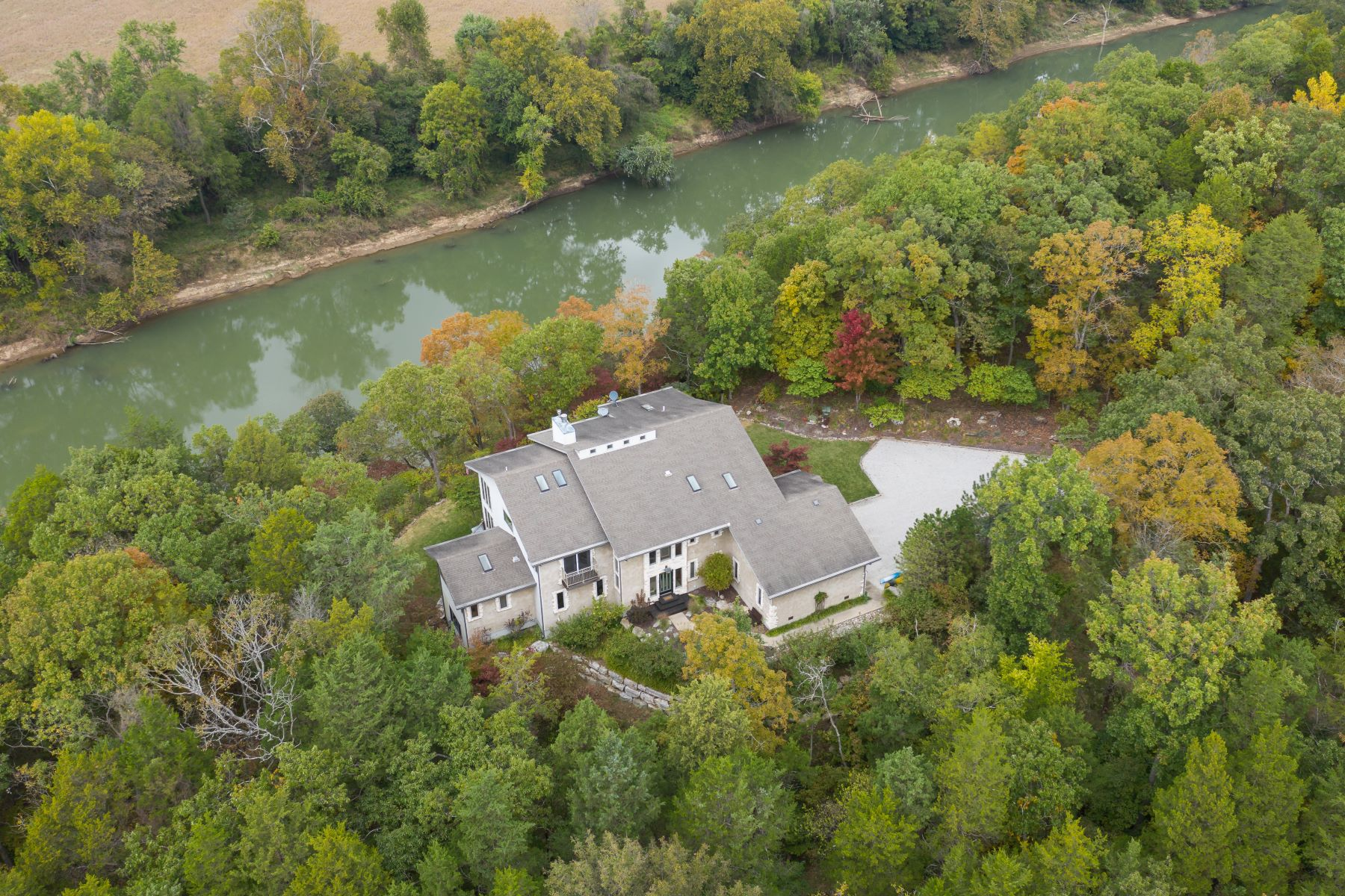Single Family Homes for Sale at Million Dollar Views and Custom Riverfront Home on 3.5+ acres 7815 Jim Weber Road Eureka, Missouri 63025 United States