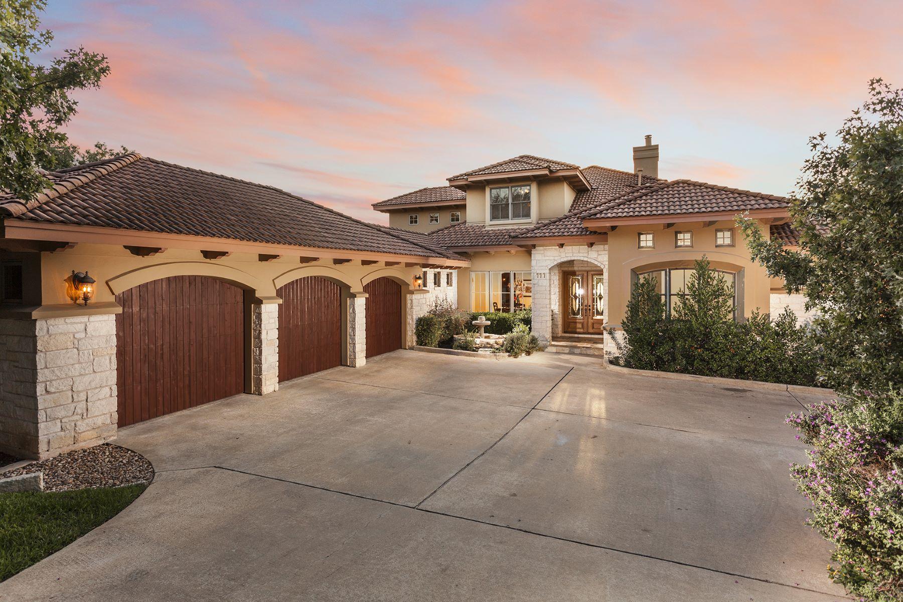 Single Family Homes for Sale at 111 Sendera Bonita, Lakeway, TX 78734 Lakeway, Texas 78734 United States