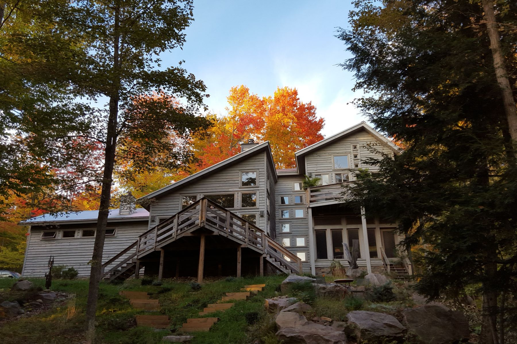 Single Family Homes for Active at Rustic Loft Style Lake Home In The Adirondacks 184 Raquette Flow Road Piercefield, New York 12973 United States