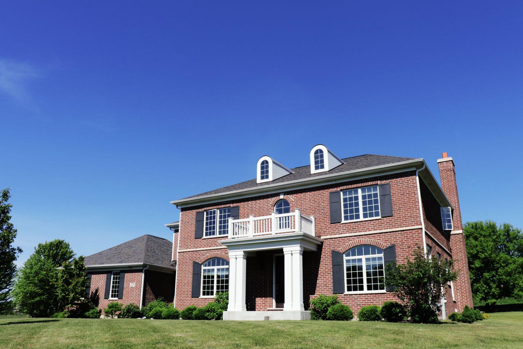 Single Family Homes para Venda às Custom Built Home 23279 Coyote Trail, Lake Barrington, Illinois 60010 Estados Unidos