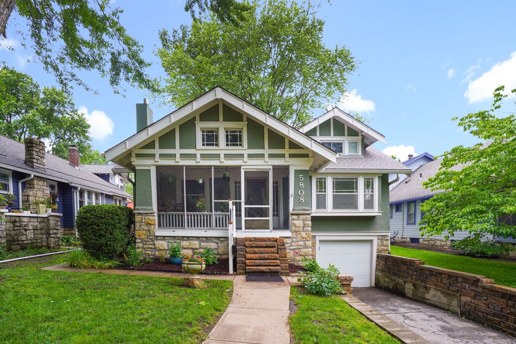Single Family Homes for Sale at Completely Updated Brookside Bungalow 5808 Holmes Street Kansas City, Missouri 64110 United States