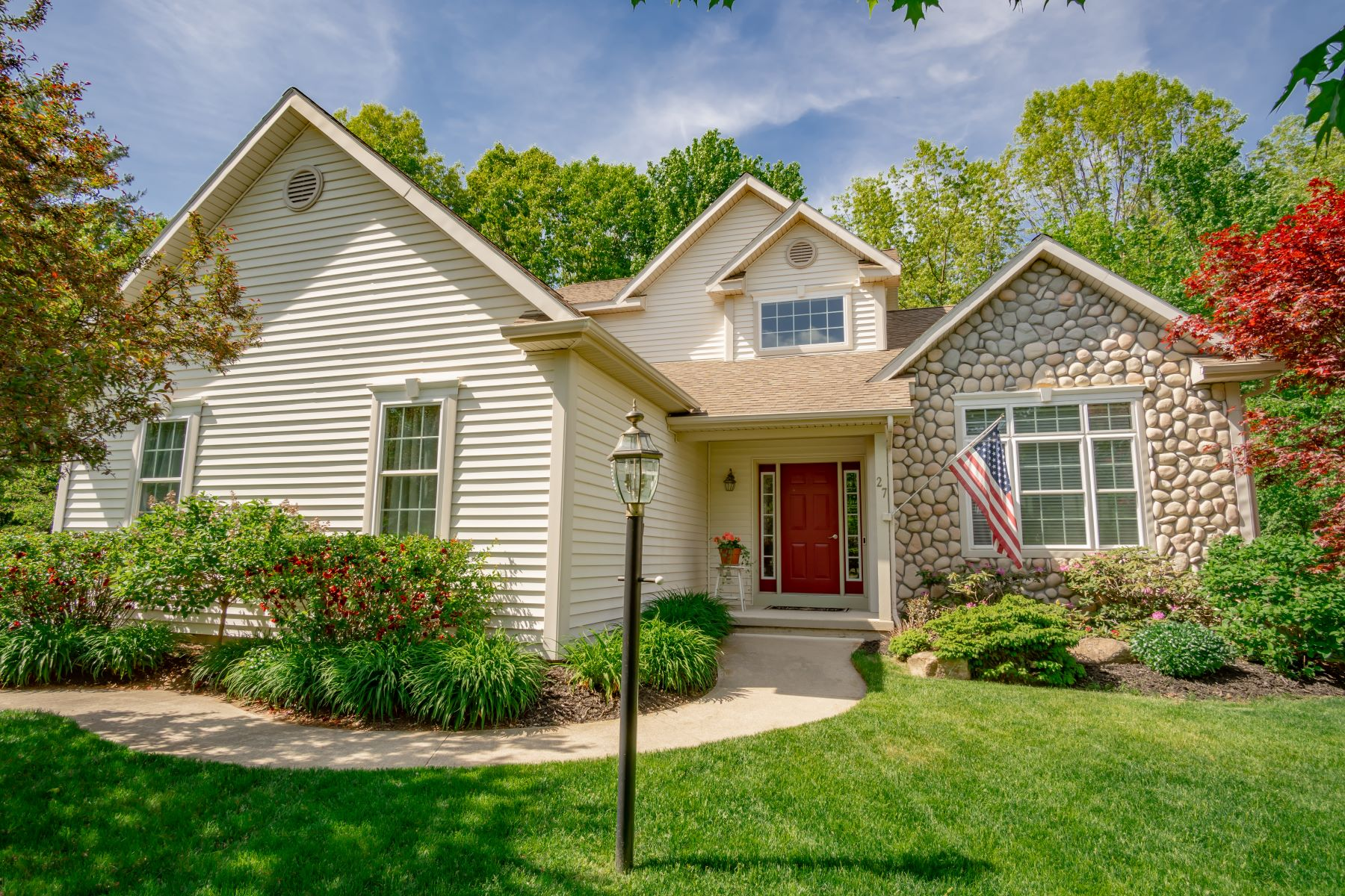 Single Family Homes for Sale at Saratoga Style Living With Four Seasoned Room & Forever Wild Backyard 27 Westbury Drive Saratoga Springs, New York 12866 United States