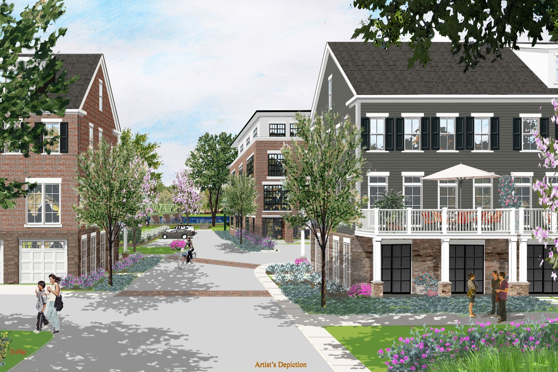 townhouses のために 売買 アット Luxury Townhome Living Along The Delaware 7 River Mills Drive, Frenchtown, ニュージャージー 08825 アメリカ