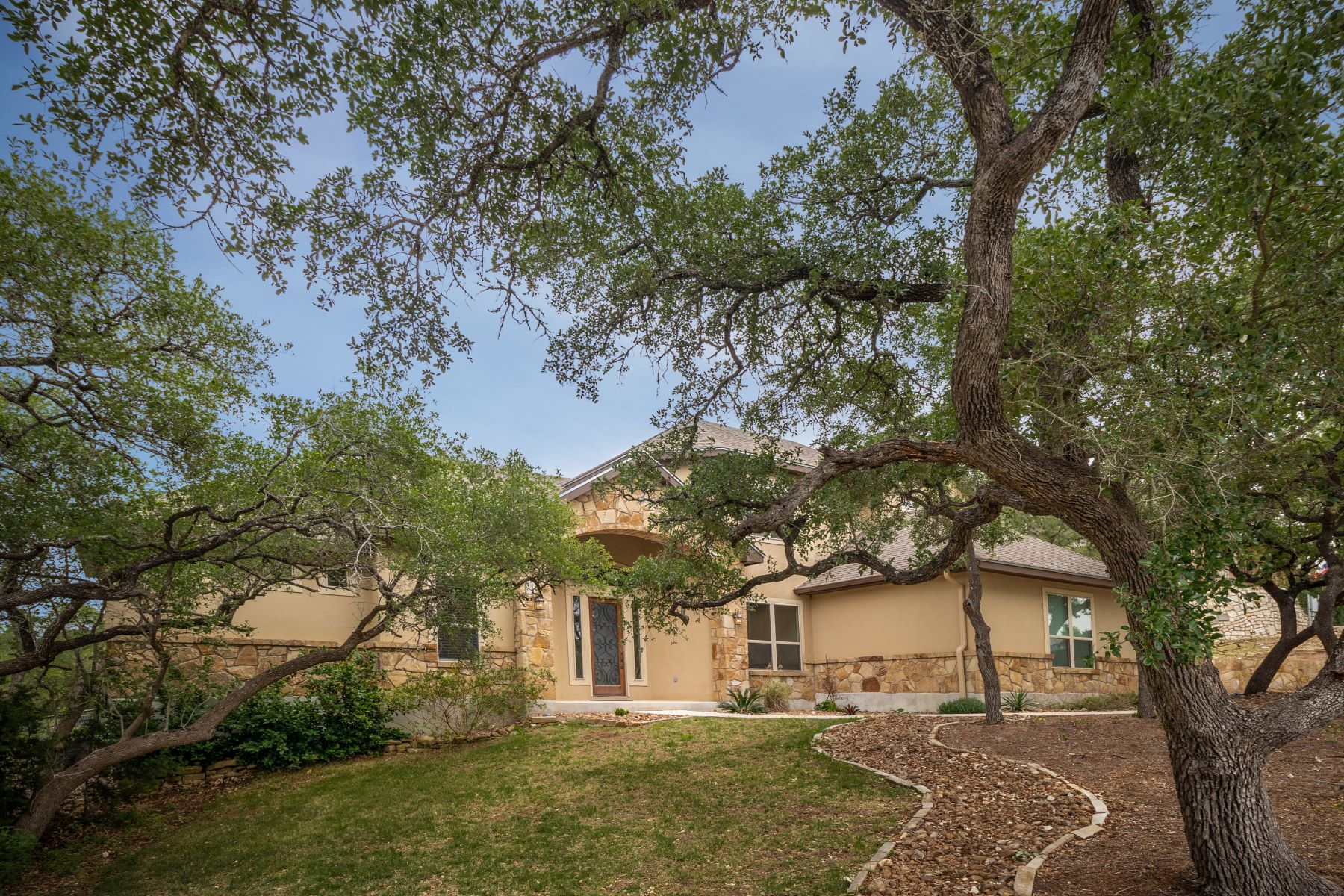 Single Family Homes for Sale at Custom Home with Views of Greenbelt and Nature Area 1742 Mountain Springs, Canyon Lake, Texas 78133 United States