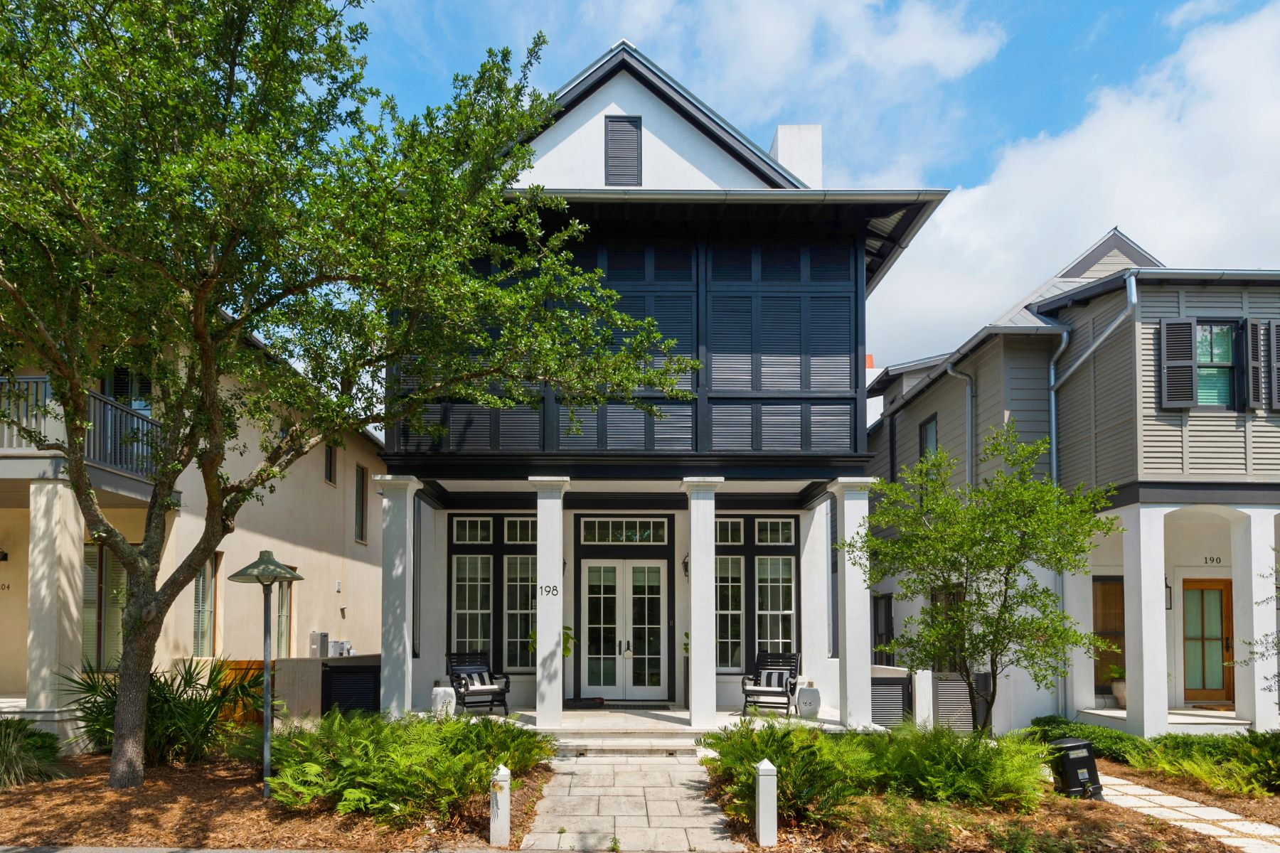 Single Family Homes for Sale at Classic Beach Home with Carriage House in the Heart of Rosemary 198 East Water Street Rosemary Beach, Florida 32461 United States