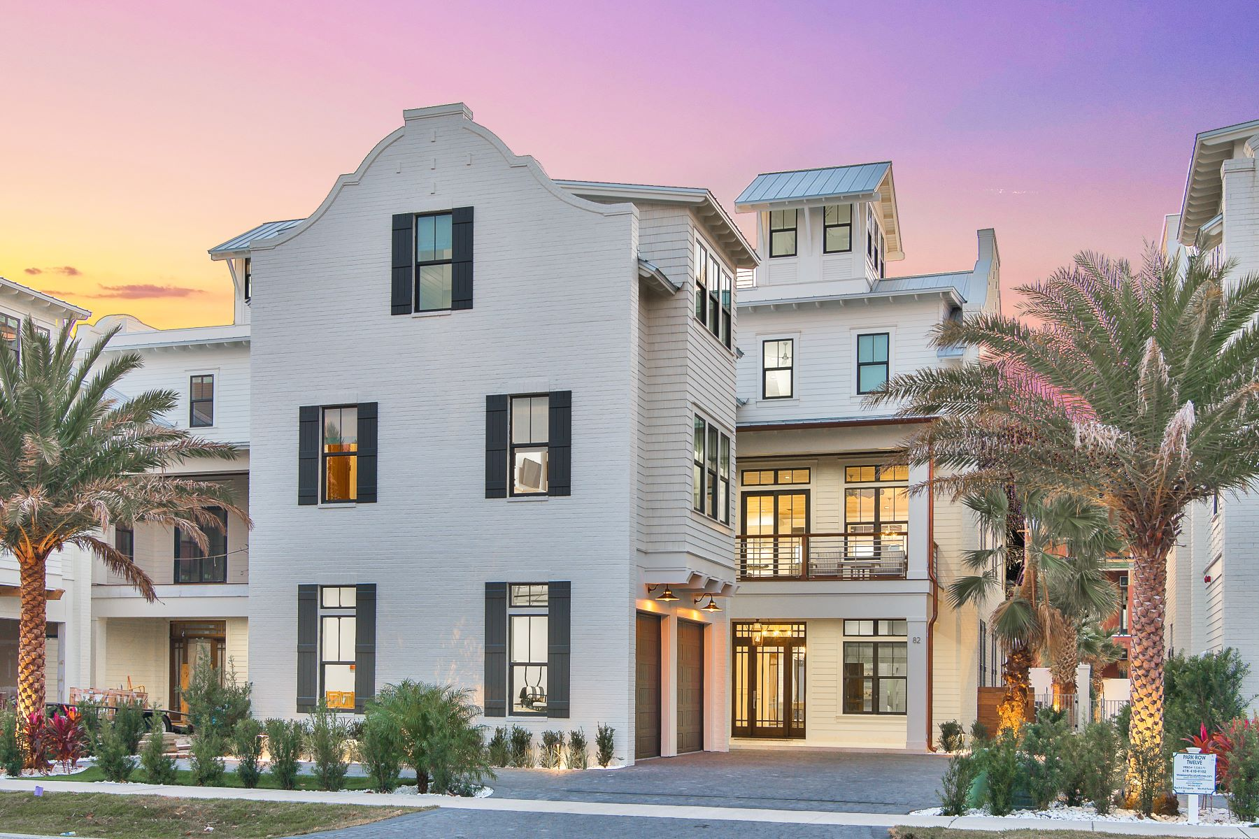 Single Family Homes for Sale at Brand New Beachside Retreat in Park Row at Crystal Beach 82 Hutchinson Street Destin, Florida 32541 United States