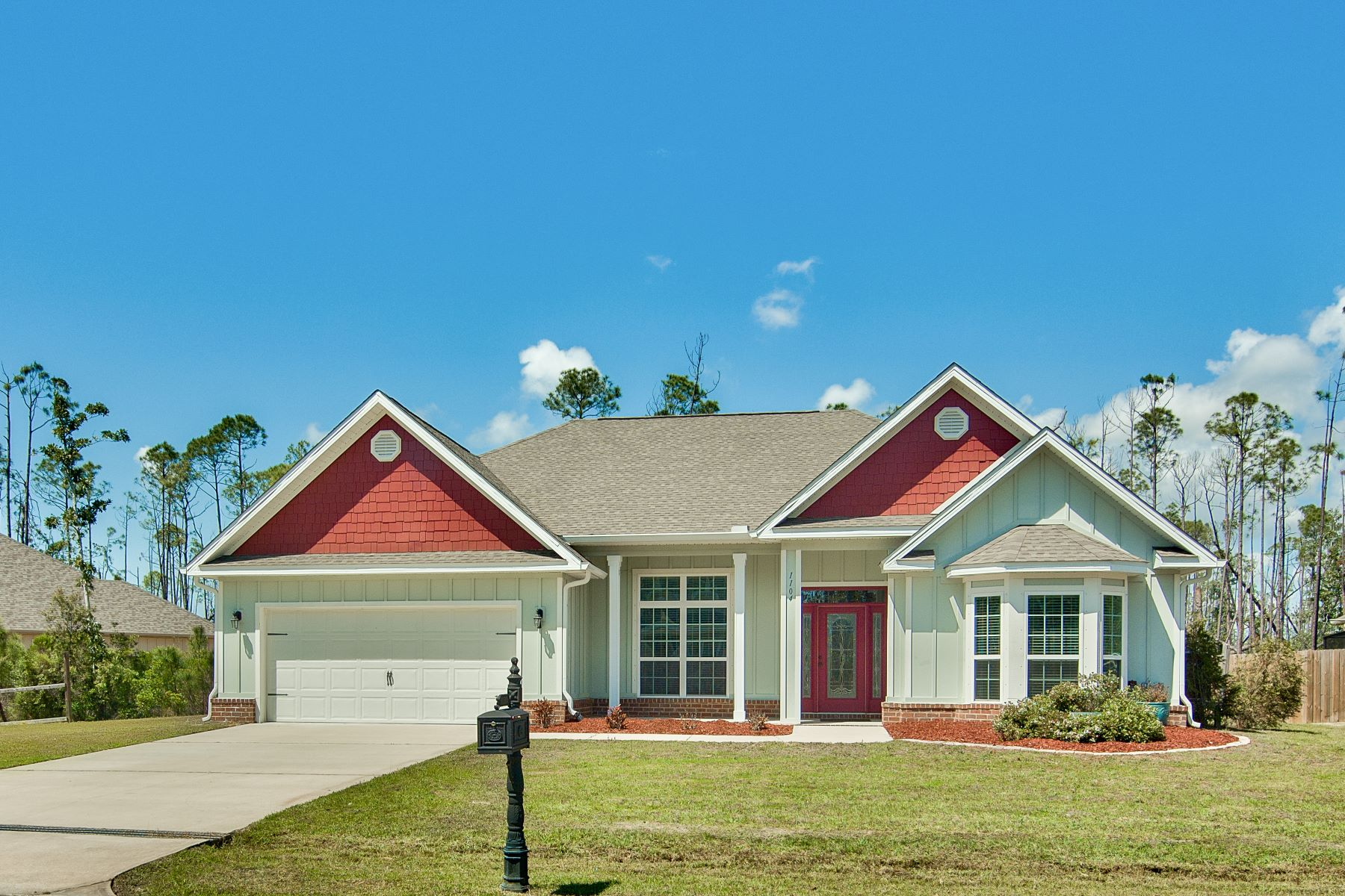 Single Family Homes for Active at Newer Home in Gated Waterfront Community Bordering Laird Bayou 1104 Zephyr Way Panama City, Florida 32404 United States