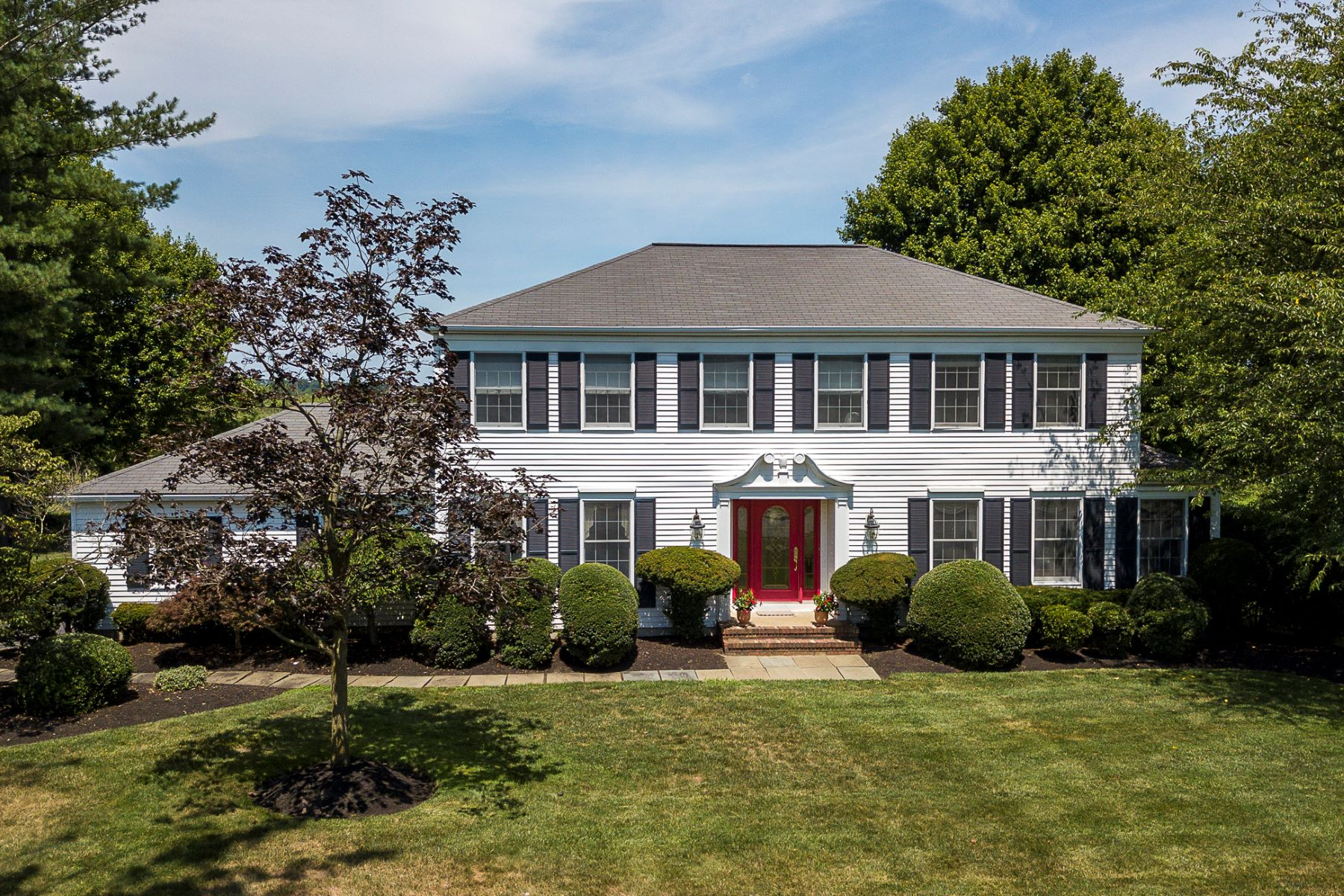 Single Family Homes for Sale at Shadow Oaks Colonial with Preserved Farmland Views 9 Hardley Drive, Cranbury, New Jersey 08512 United States
