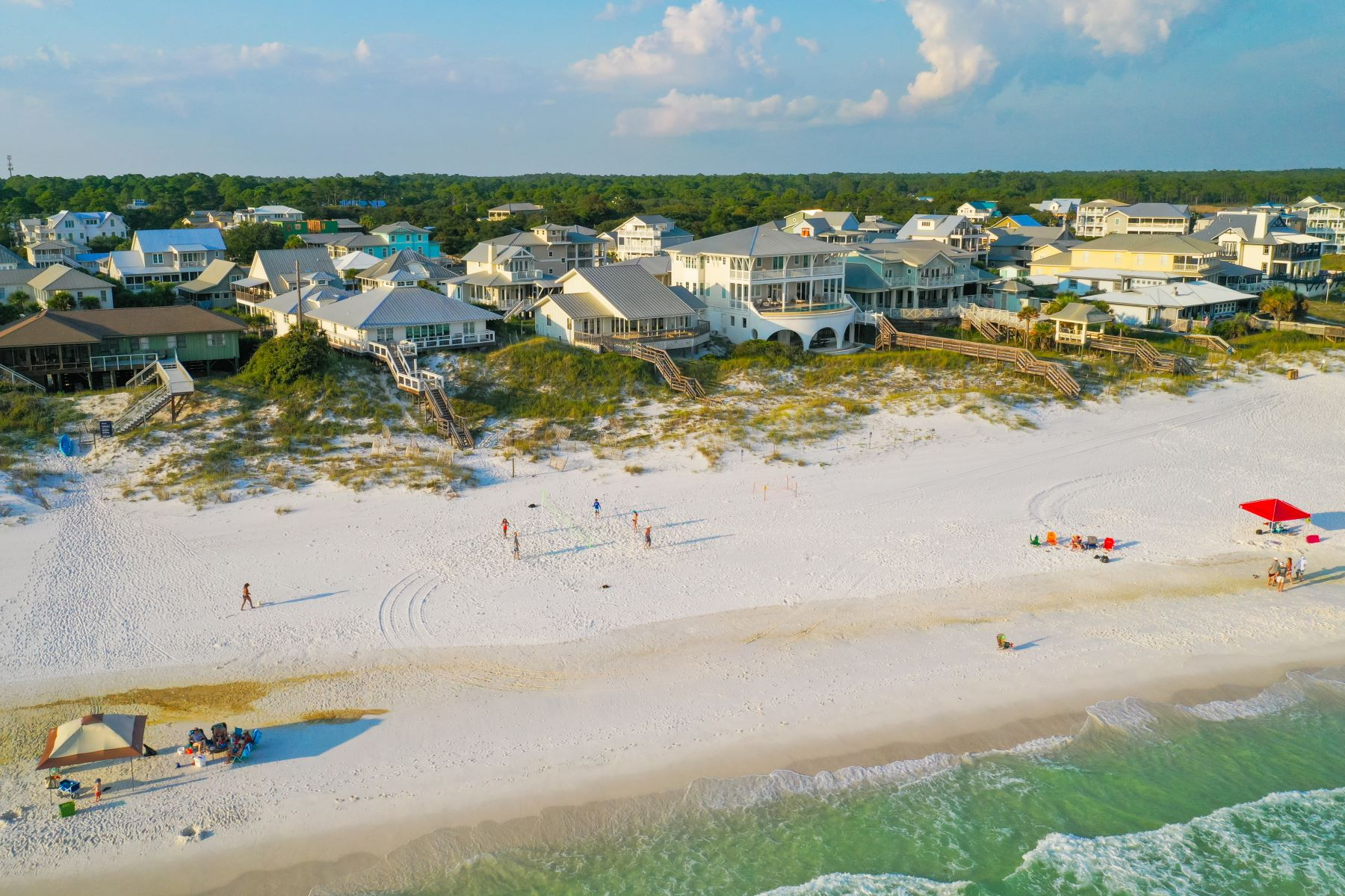 Single Family Homes por un Venta en Unique Gulf-front Opportunity in Grayton Beach 61 Auburn Drive, Santa Rosa Beach, Florida 32459 Estados Unidos