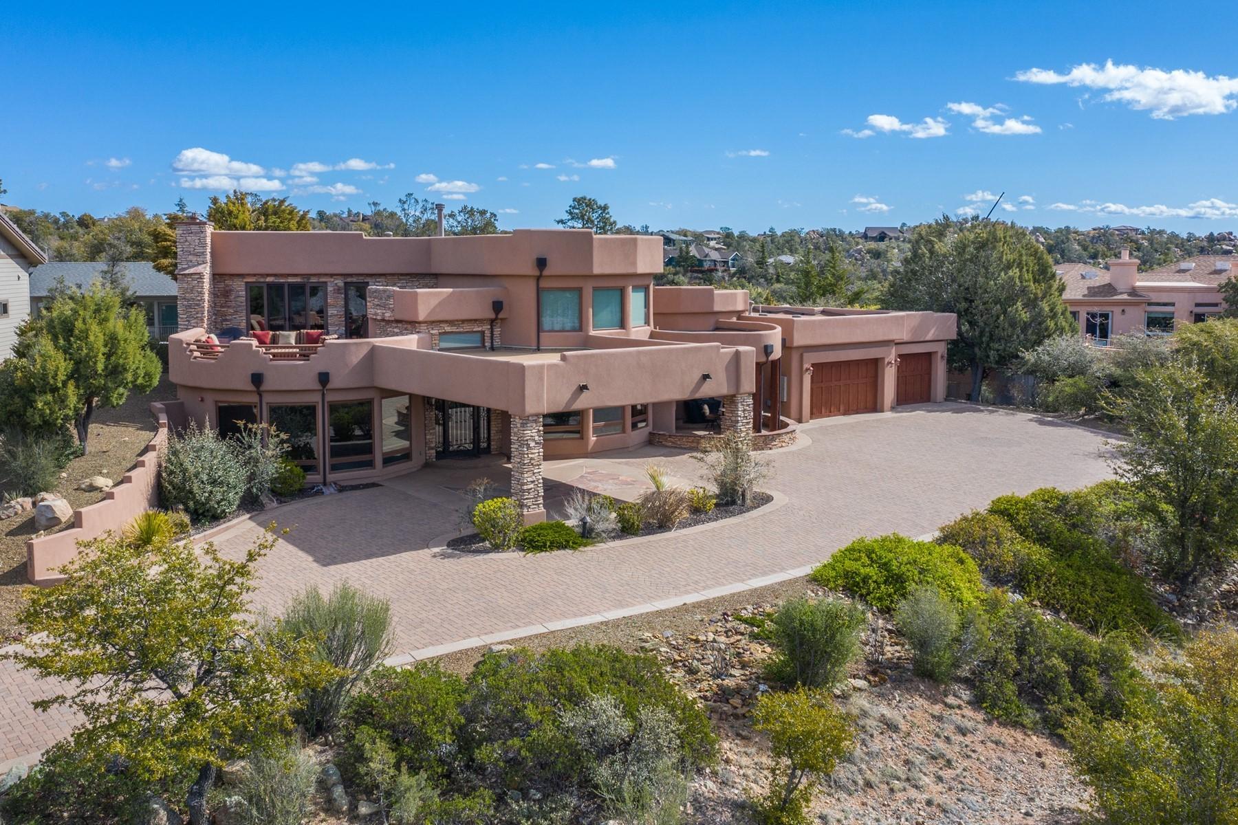 Single Family Homes 为 销售 在 Luxury Santa Fe Style Home 1341 Sierry Peaks Drive 普雷斯科特, 亚利桑那州 86305 美国