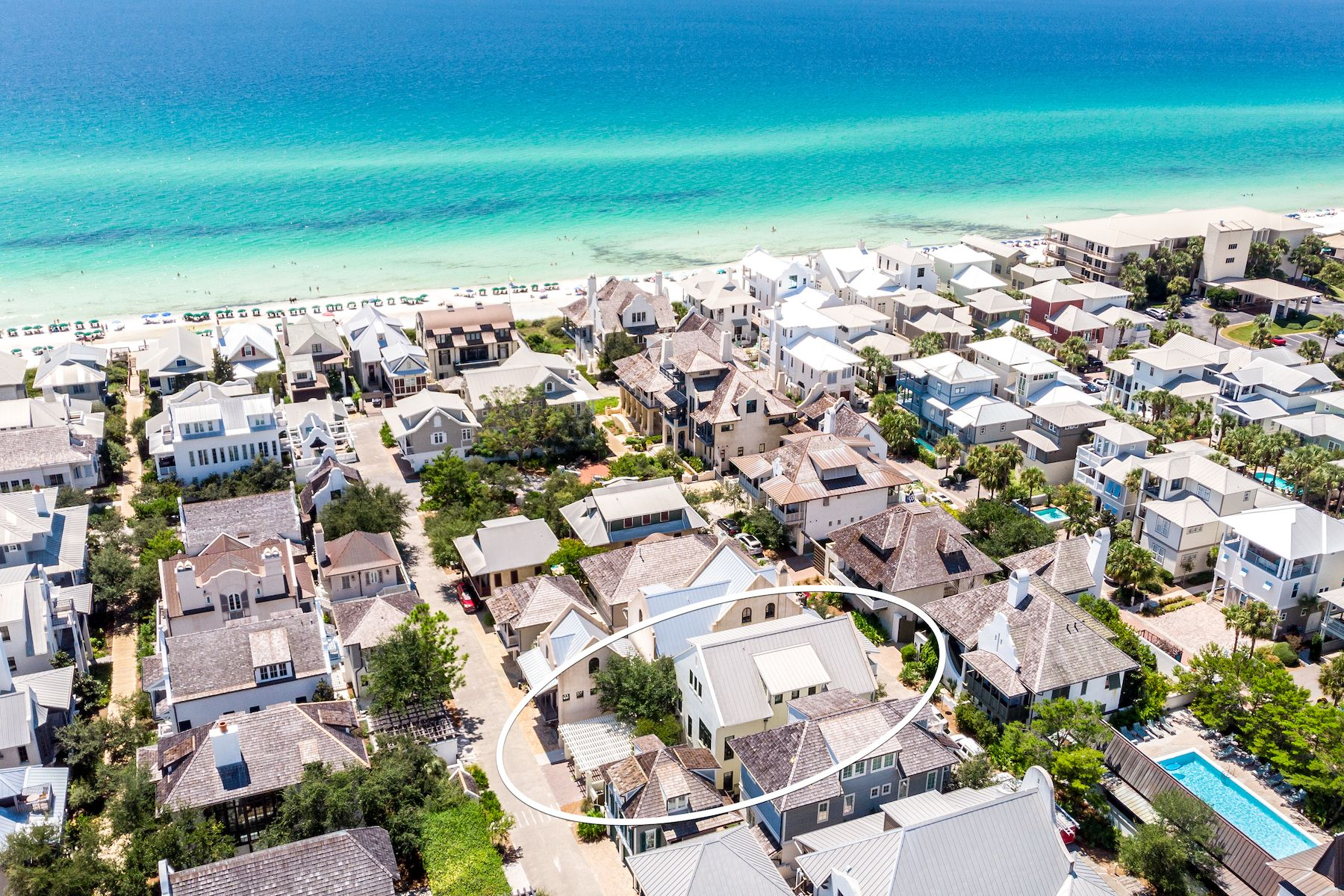 Single Family Homes for Sale at Furnished Gulf View Home South of 30A 307 West Water Street Rosemary Beach, Florida 32461 United States