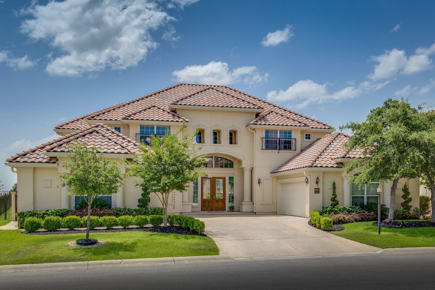 Single Family Home for Sale at Italian Villa in The Dominion 24711 Ellesmere, San Antonio, Texas, 78257 United States