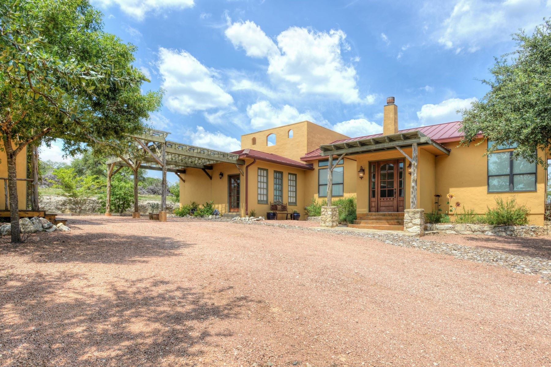 Single Family Homes for Sale at Hill Country Hacienda-Custom Design 5524 FM 3240 Bandera, Texas 78003 United States