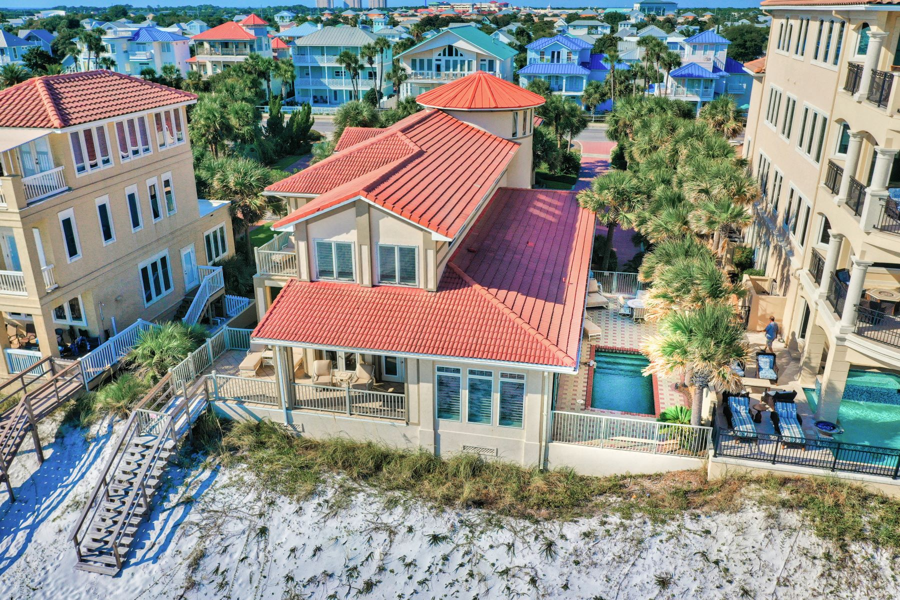 Single Family Homes için Satış at Gulf-Front Home with Private Pool on Oversized Lot 2988 Scenic Highway 98, Destin, Florida 32541 Amerika Birleşik Devletleri