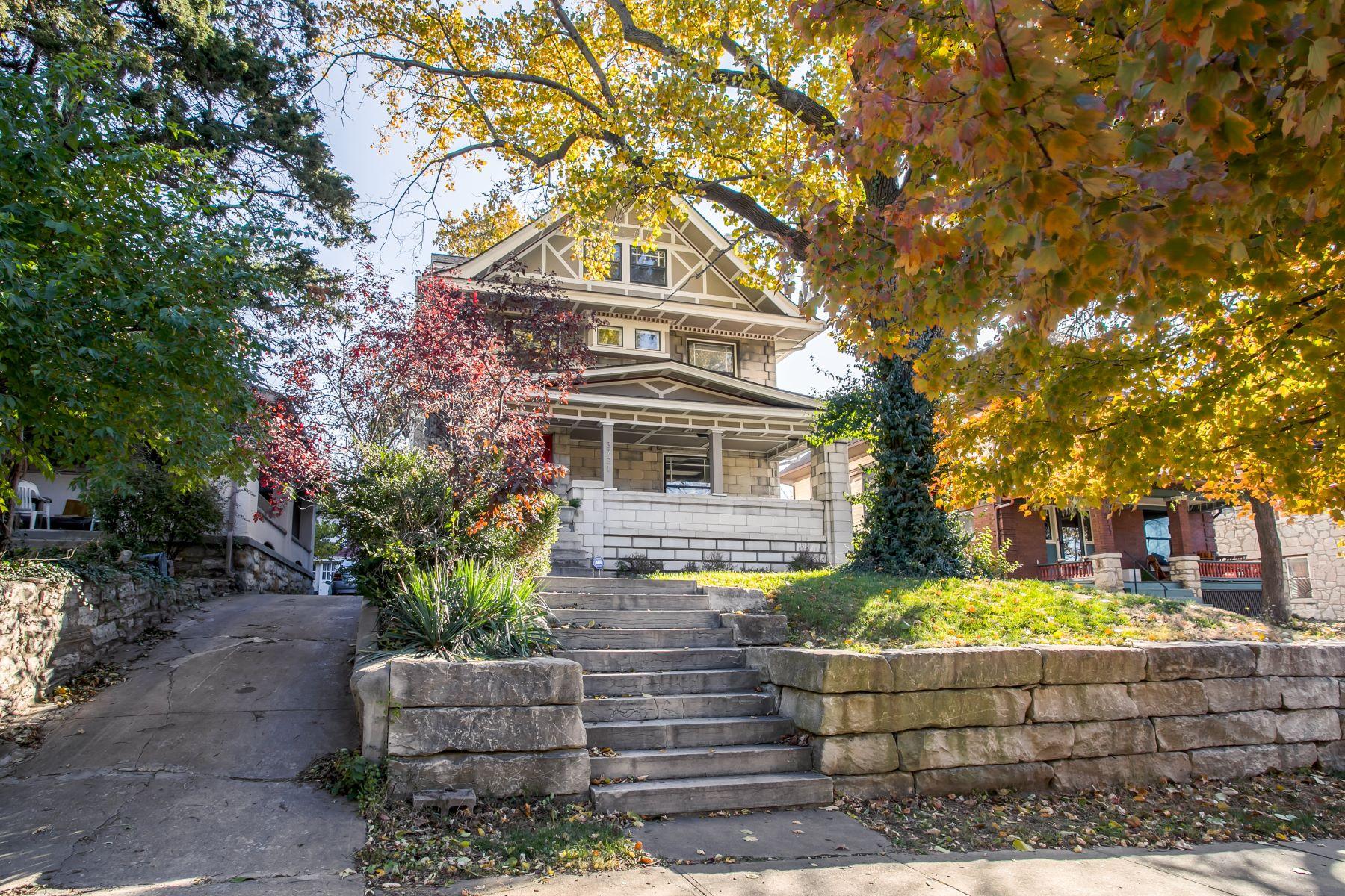 Single Family Homes for Active at In the heart of historic Valentine neighborhood 3721 Pennsylvania Avenue Kansas City, Missouri 64111 United States