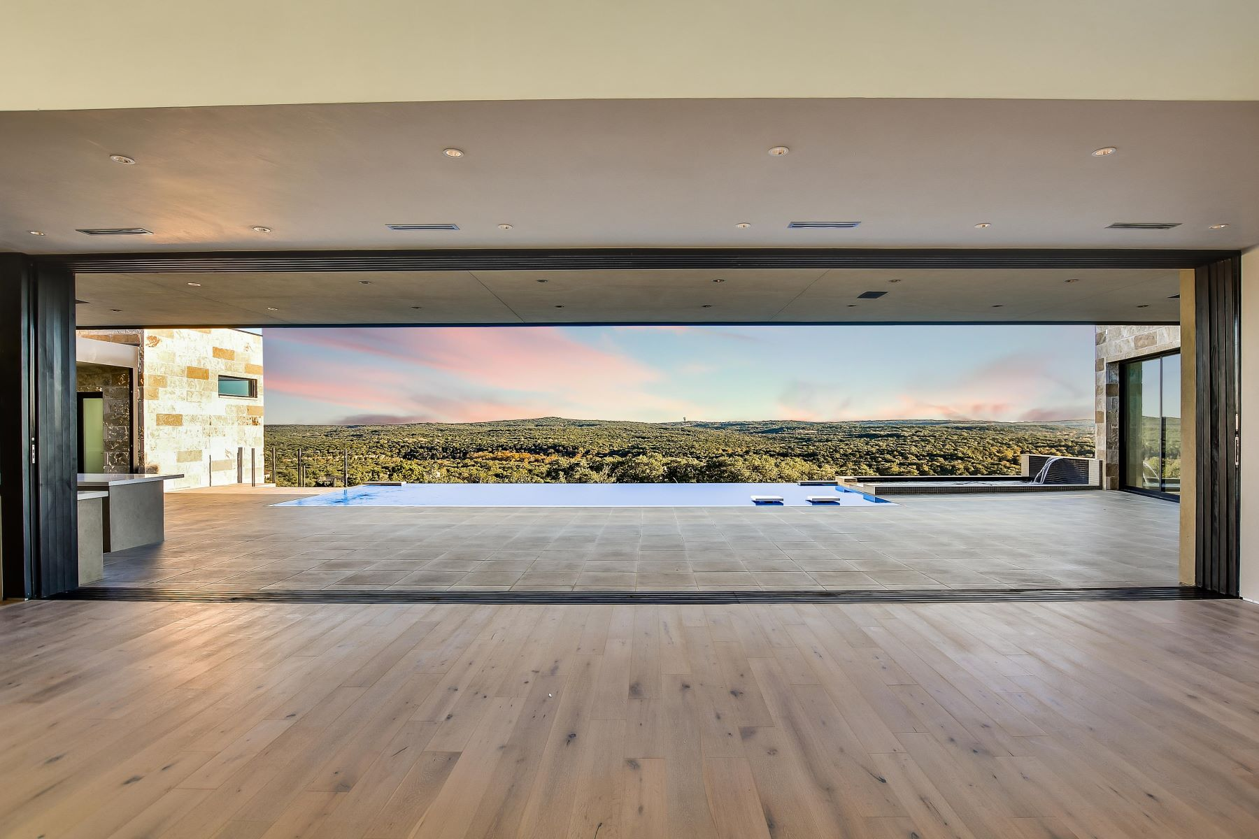 Single Family Homes for Sale at Exquisite Contemporary with Hill Country Views 5516 Laceback Terrace Austin, Texas 78738 United States
