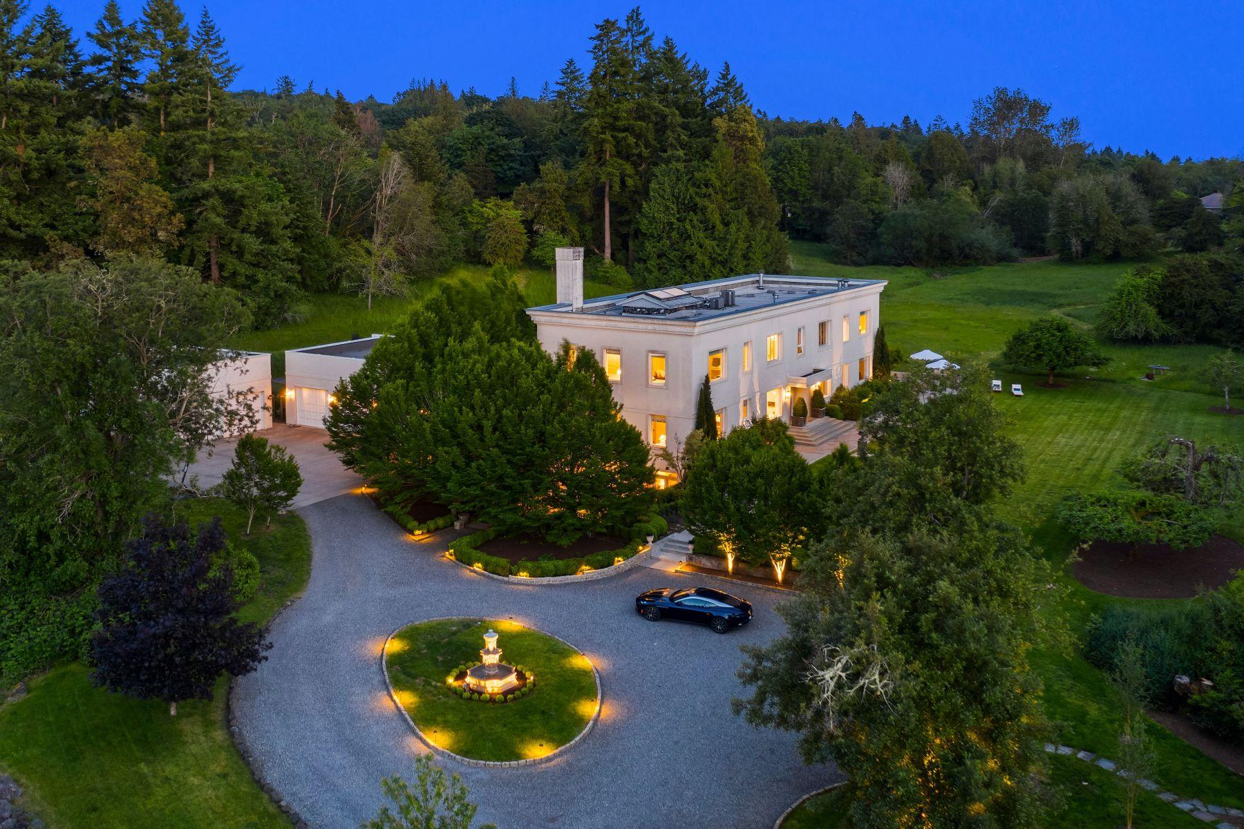 Single Family Homes for Sale at Building 39: A Timeless Island Estate 10000 NE Kitsap St Bainbridge Island, Washington 98110 United States