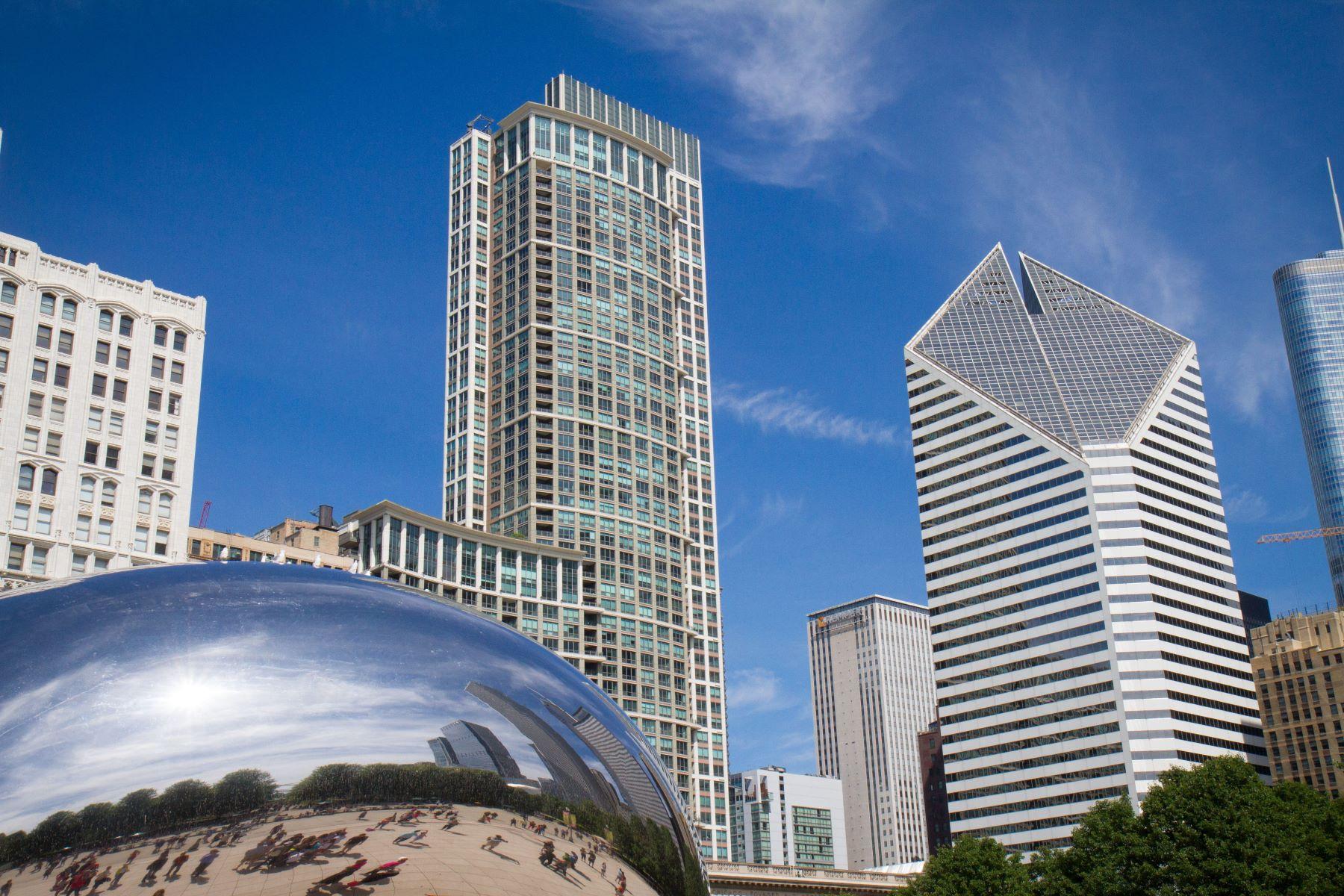 Condominiums för Försäljning vid Spectacular Penthouse at the Heritage! 130 N Garland Court Unit PH5702, Chicago, Illinois 60602 Förenta staterna