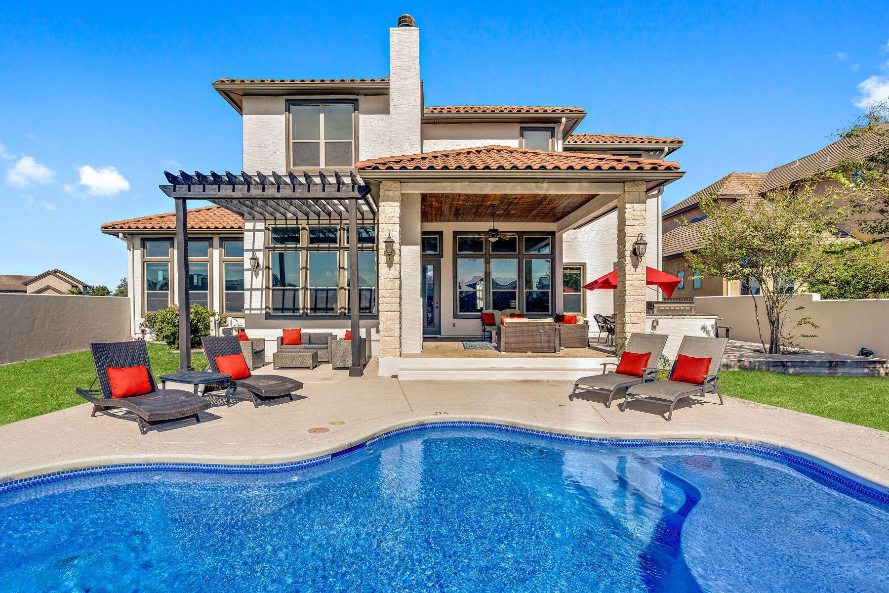 Single Family Homes for Sale at Santa Barbara Style Living on Lake LBJ 311 Clearwater Drive on Lake LBJ Kingsland, Texas 78639 United States