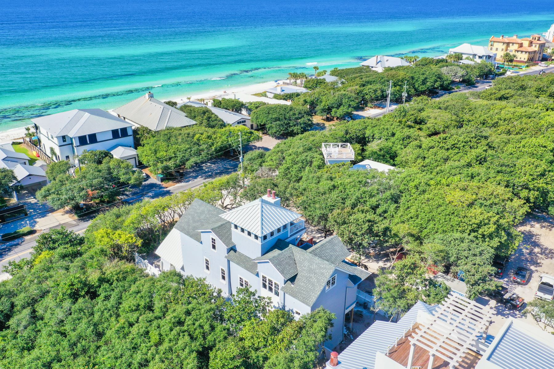 Single Family Homes for Sale at Grand New House a Block to the Beach with Gulf Views 2907 East County Highway 30A, Santa Rosa Beach, Florida 32459 United States