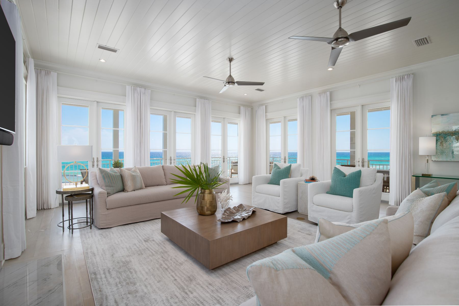 Single Family Homes for Sale at Gulf Front Home With Pool and Private Beach Access 125 San Roy Road, Santa Rosa Beach, Florida 32459 United States