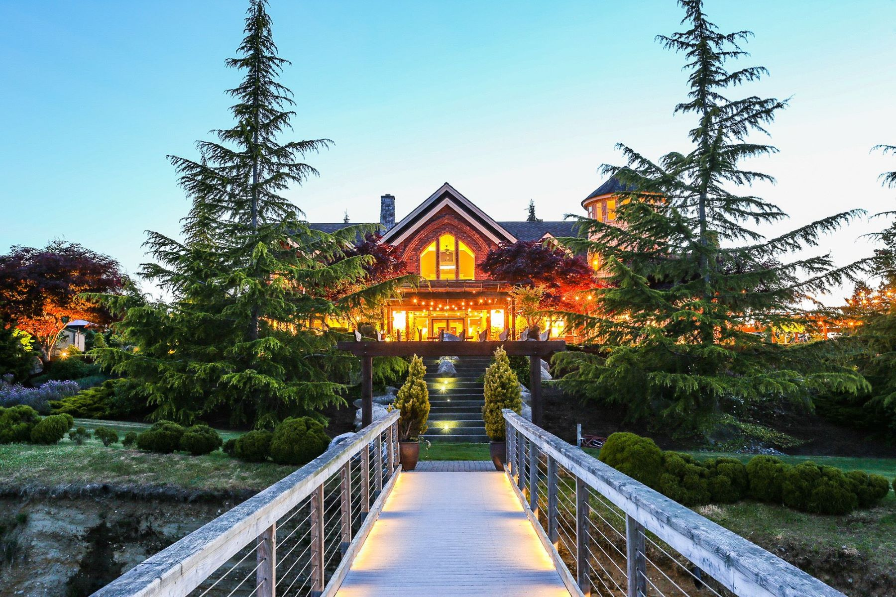 Single Family Homes for Sale at Paradise Passage Estate & Stables 1255 14th Ave Fox Island, Washington 98333 United States
