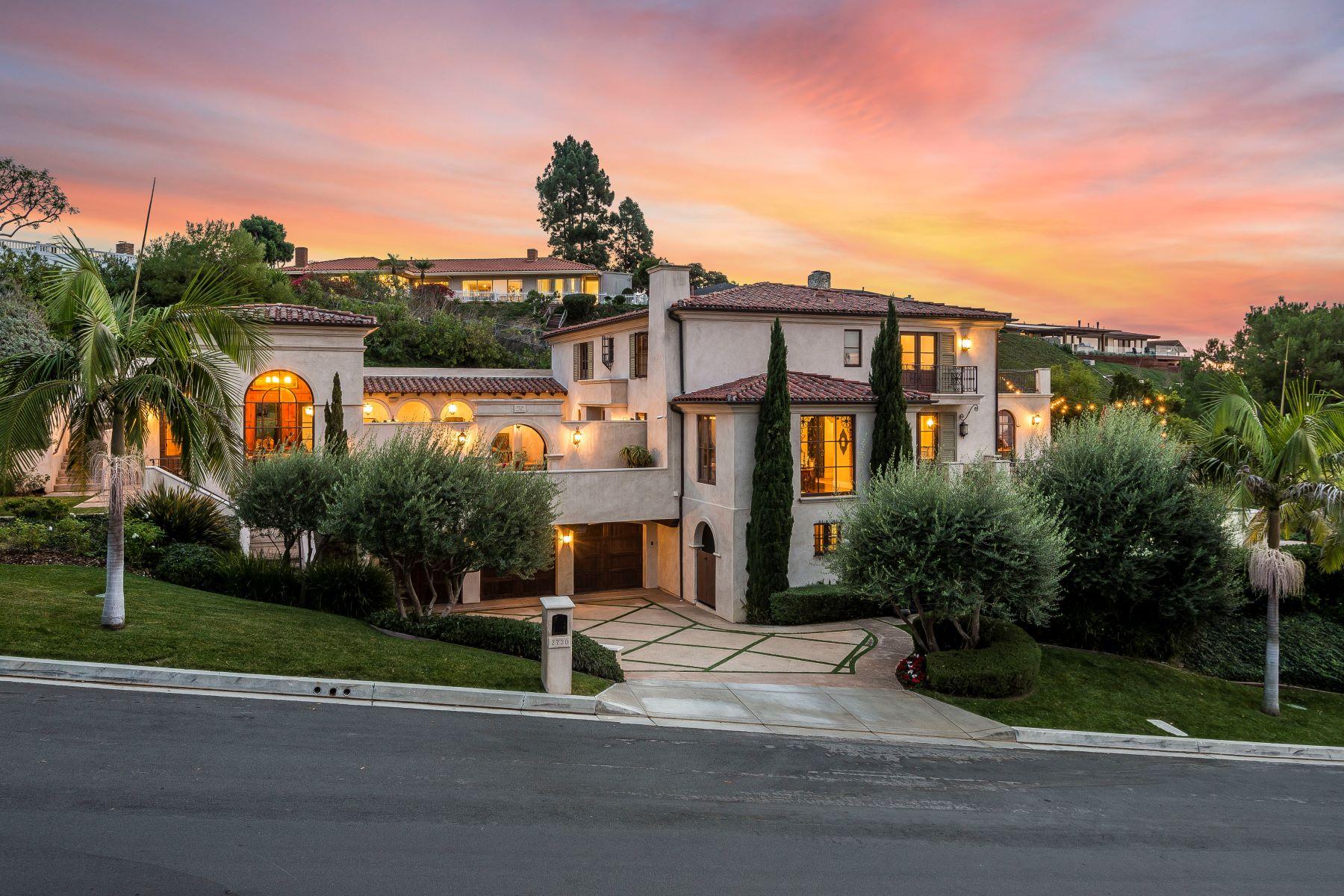 Single Family Homes for Sale at 2730 Vía Victoria, Palos Verdes Estates, CA 90274 2730 Vía Victoria Palos Verdes Estates, California 90274 United States