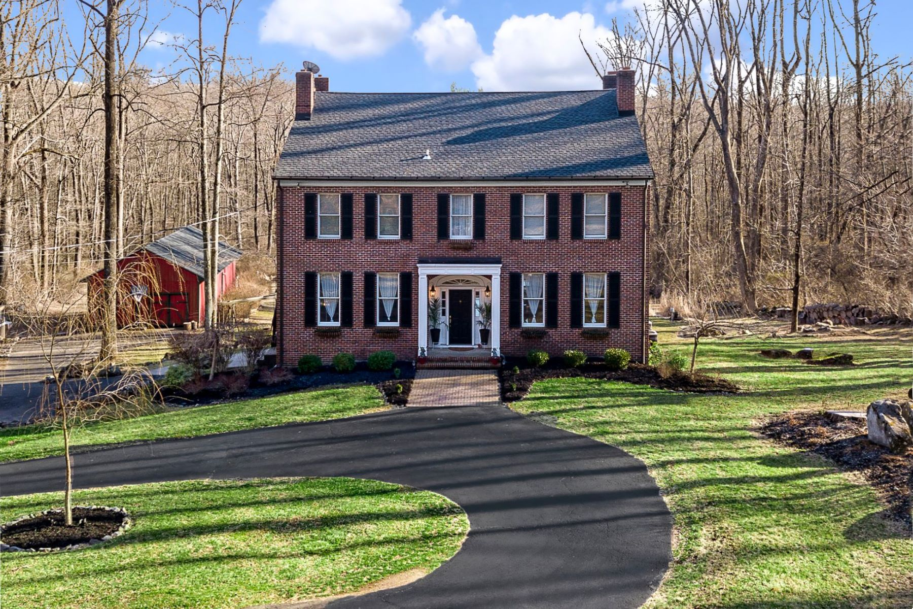 Single Family Homes vì Bán tại Picturesque Views From This All-Brick Beauty 161 Mountain Road Ringoes, New Jersey 08551 Hoa Kỳ