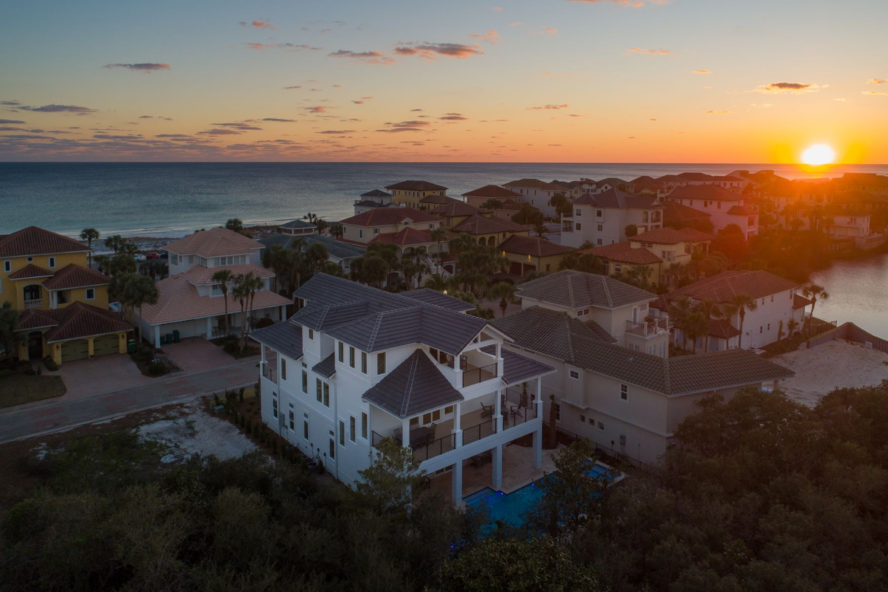 Single Family Homes for Active at Newly Built Home in Gated Community with Pool & Gulf Views 4645 Destiny Way Destin, Florida 32541 United States