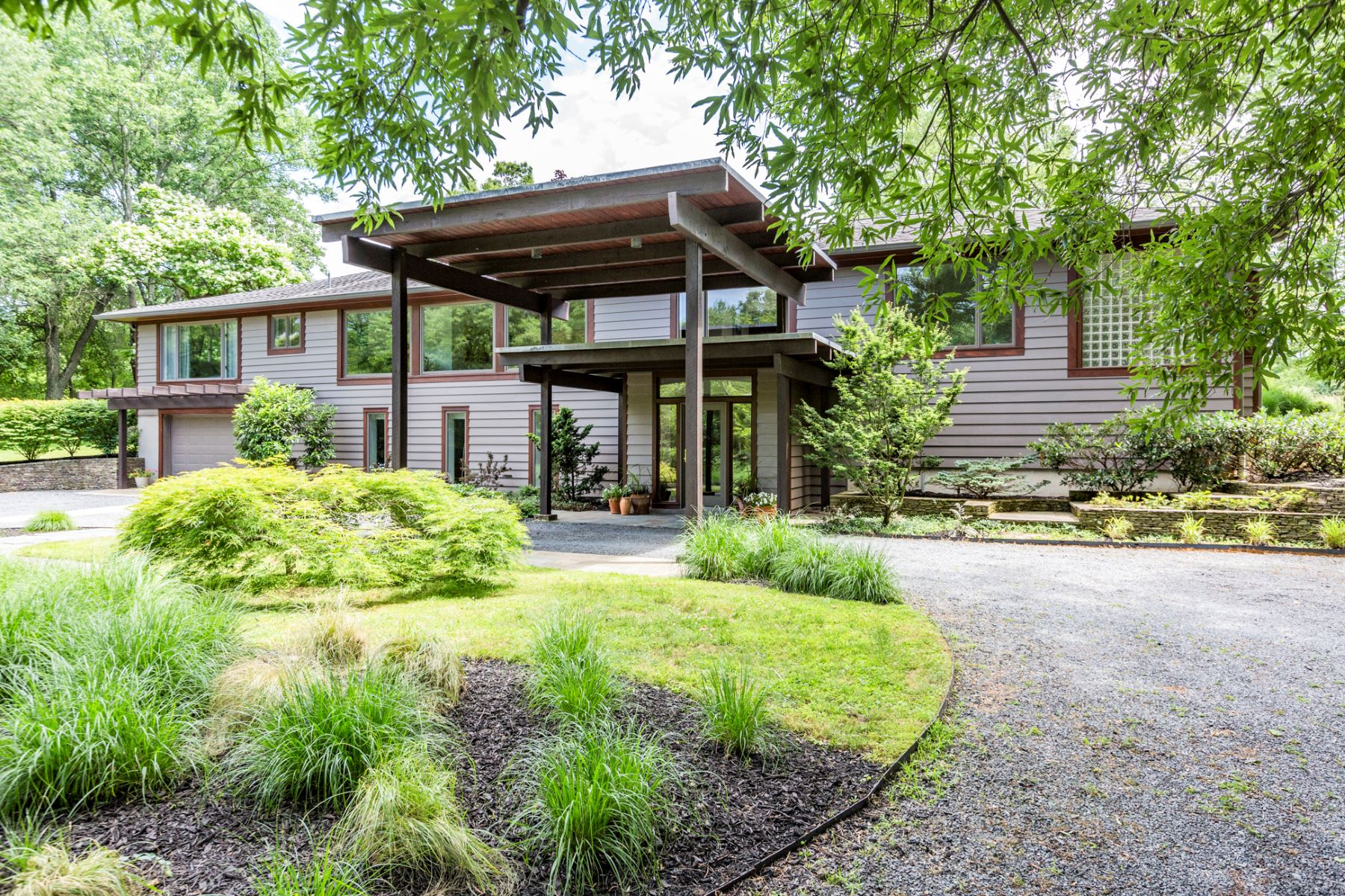 Single Family Home for Sale at Framing It Just Right: Modern With Magical Views 13 Aunt Molly Road, Hopewell, New Jersey 08525 United States