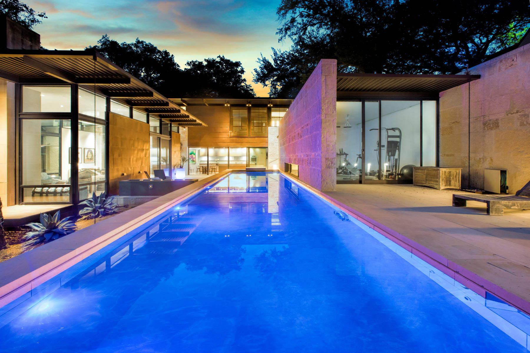 Single Family Homes for Active at Spectacular Ultra Contemporary Custom Home in Olmos Park San Antonio, Texas 78212 United States