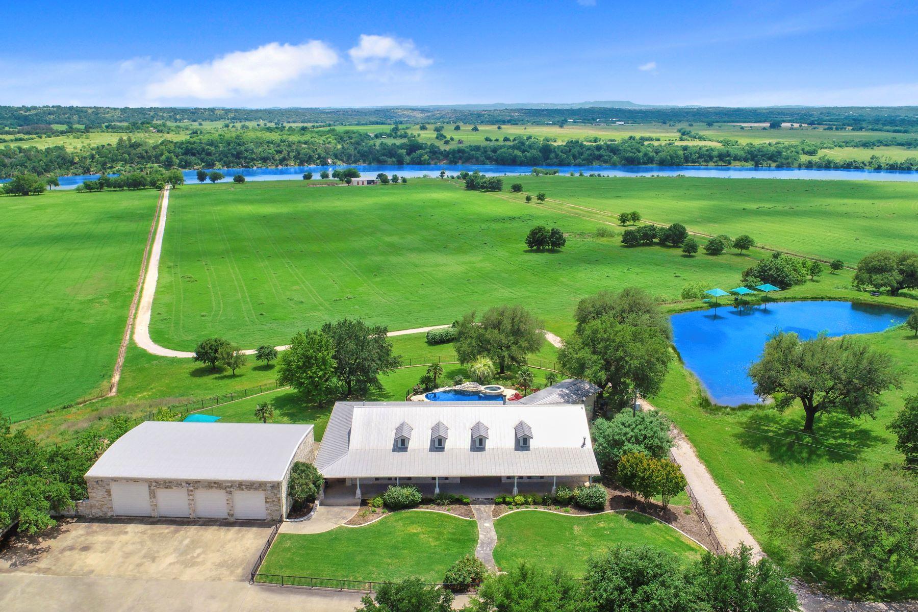 농장 / 목장 / 농장 용 매매 에 Remarkable Lake Travis Gentleman's Ranch 575 Cimarron Ranch Road on Lake Travis, Marble Falls, 텍사스 78654 미국