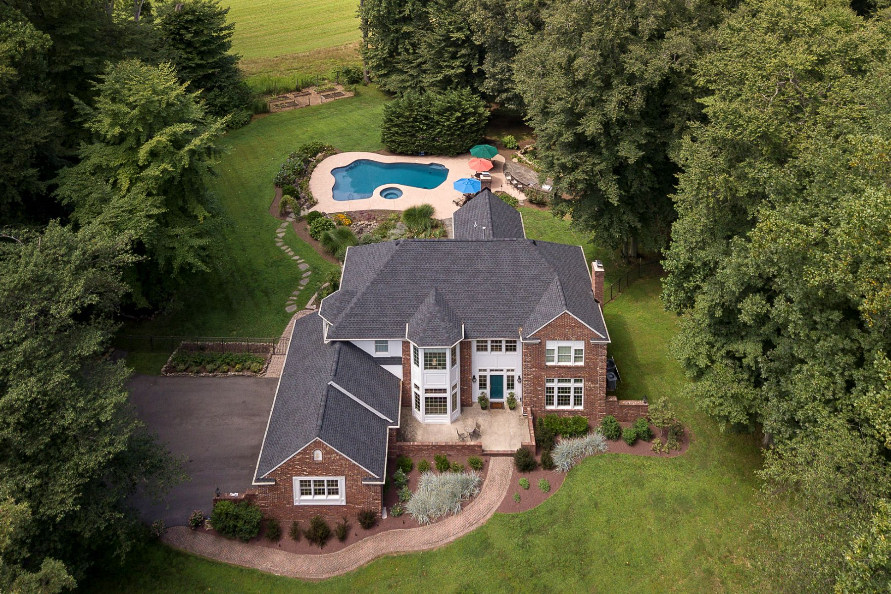 Single Family Homes للـ Sale في Spectacular Scenery Surrounds This Custom Home 6 Daniel Robbins Lane, Flemington, New Jersey 08822 United States