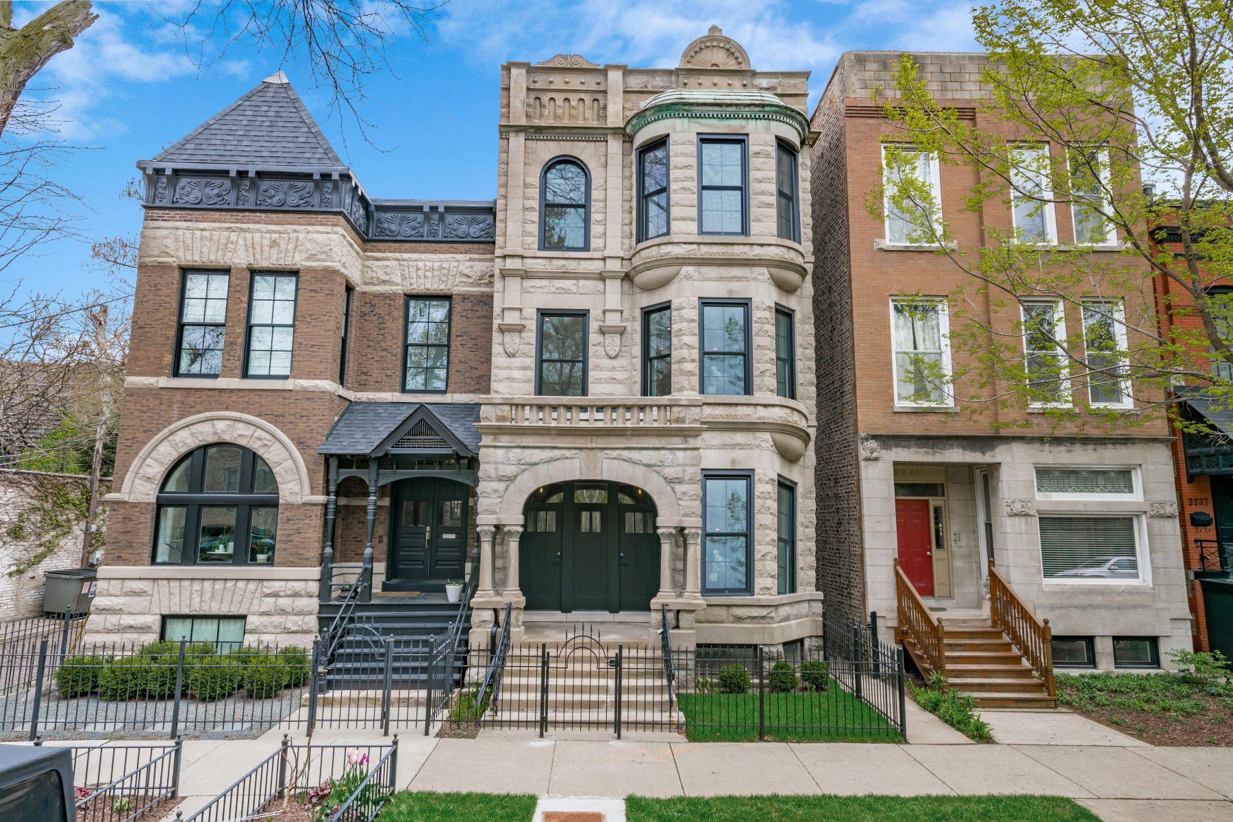 Single Family Homes por un Venta en Luxurious Multi-Level Residence 2243 N Seminary Avenue Chicago, Illinois 60614 Estados Unidos