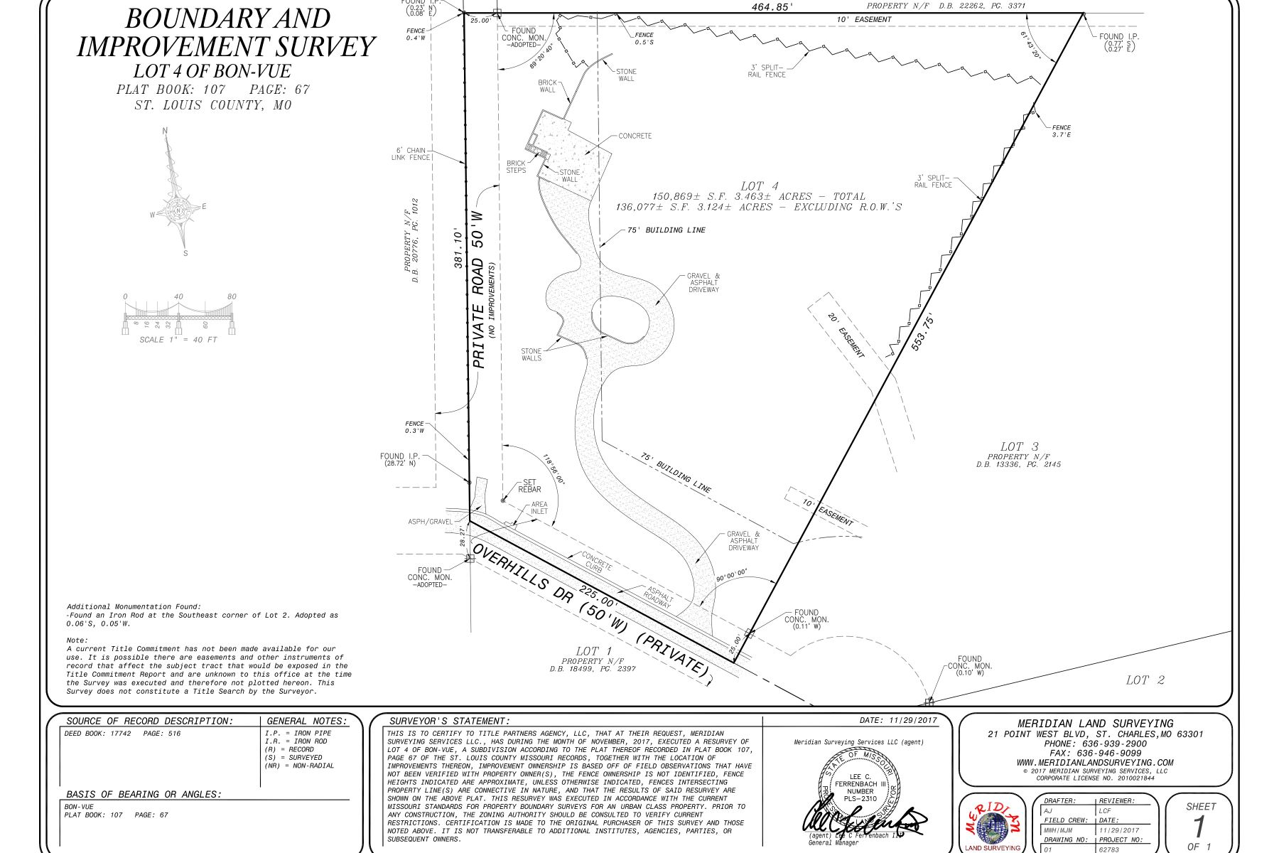 Additional photo for property listing at Ladue Lot 61 Overhills Drive Ladue, Missouri 63124 United States