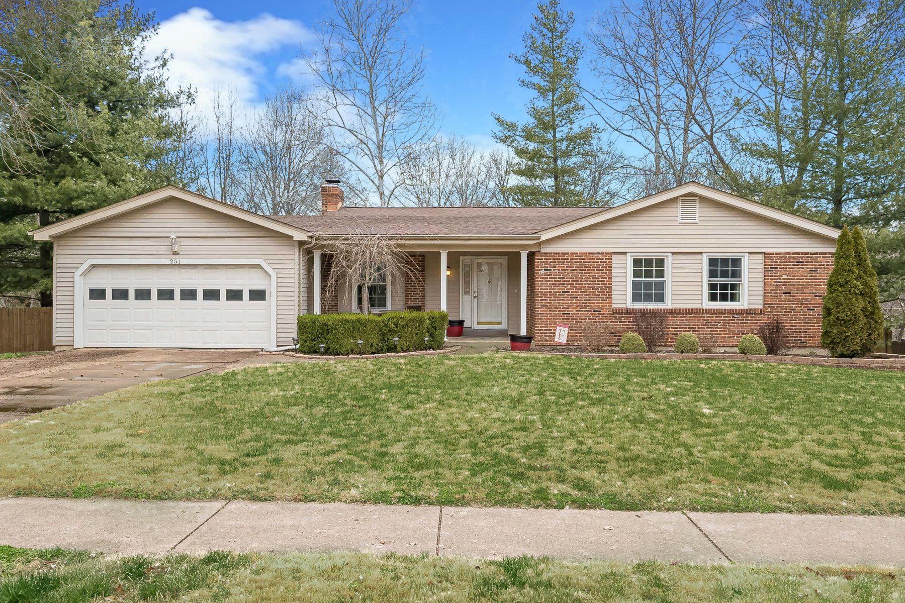 Single Family Homes für Verkauf beim Impressively Perfect Ballwin Ranch 251 Treasure Cove, Ballwin, Missouri 63021 Vereinigte Staaten