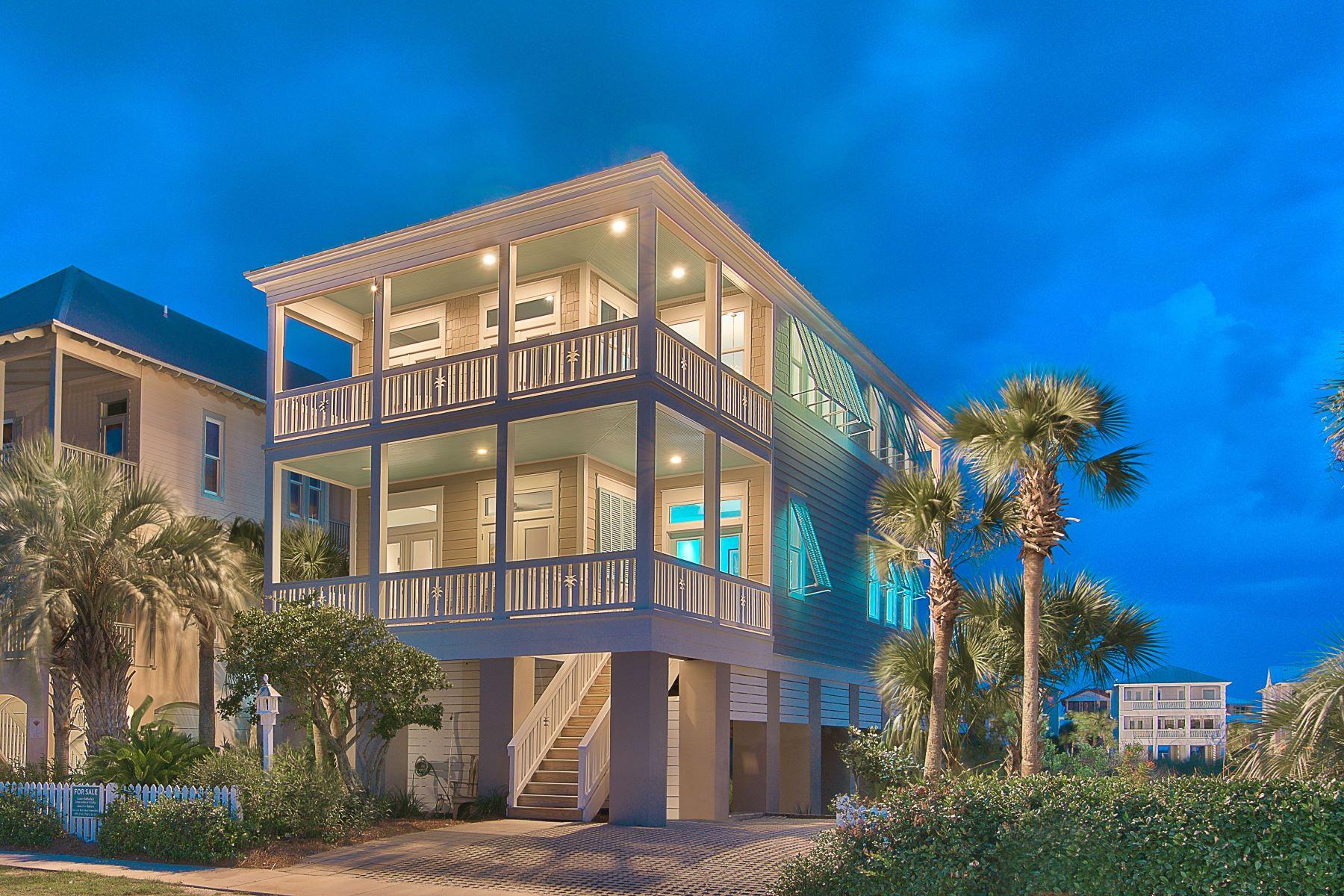 Single Family Homes por un Venta en Custom Beachside Retreat in Destin Pointe with Panoramic Views 3588 Rosalie Drive Destin, Florida 32541 Estados Unidos