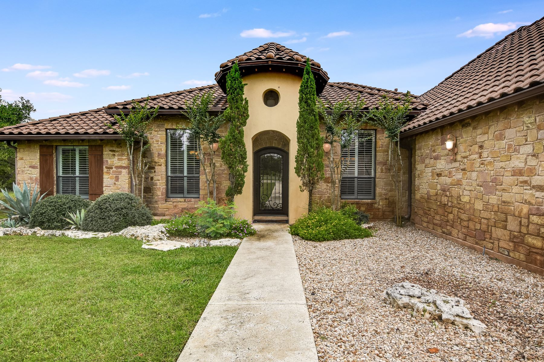 Single Family Homes for Sale at Texas Hill Country Villa with Barrel Tile Roof 284 Nicholas Lane Driftwood, Texas 78619 United States