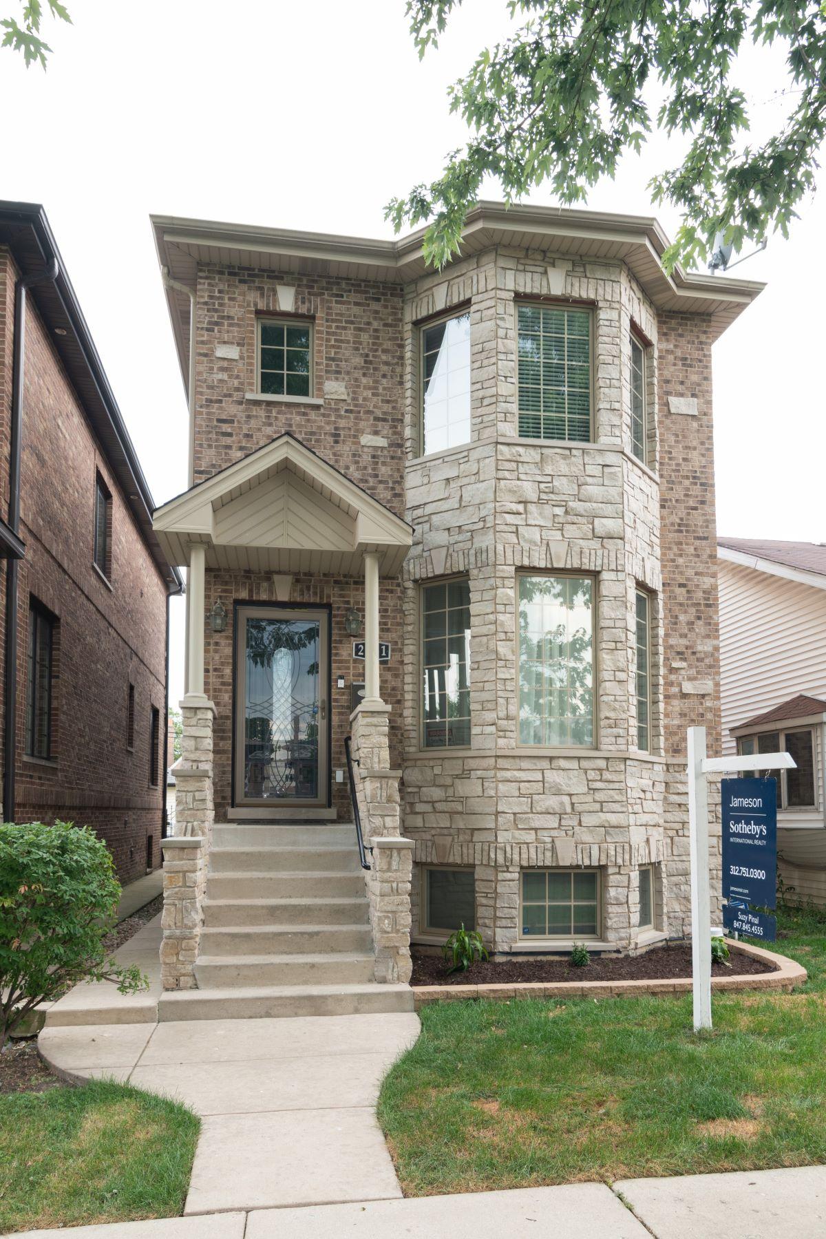 Single Family Homes for Sale at Stunning Elmwood Park Home 2831 N 73rd Avenue Elmwood Park, Illinois 60707 United States