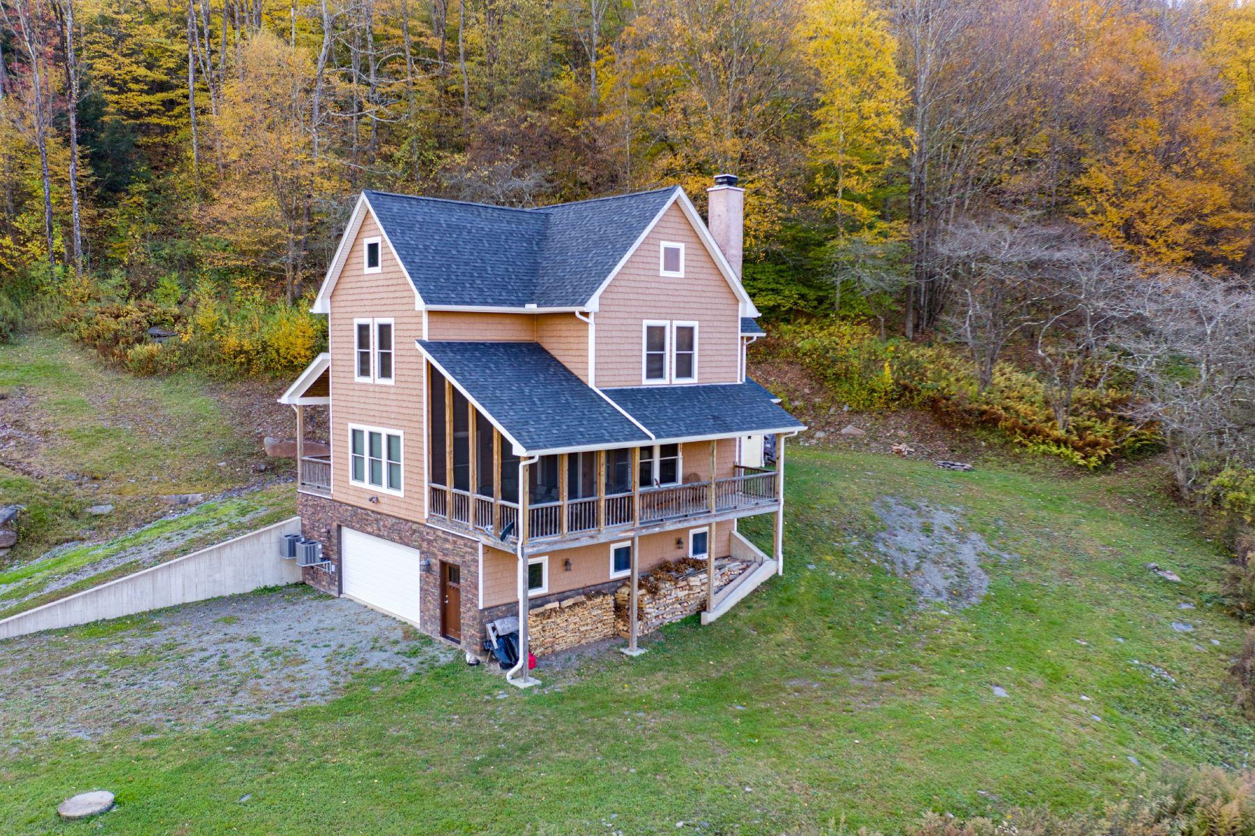 Single Family Homes for Sale at Catskill Mountain Anglers Retreat 2141 Readburn Road Hancock, New York 13783 United States