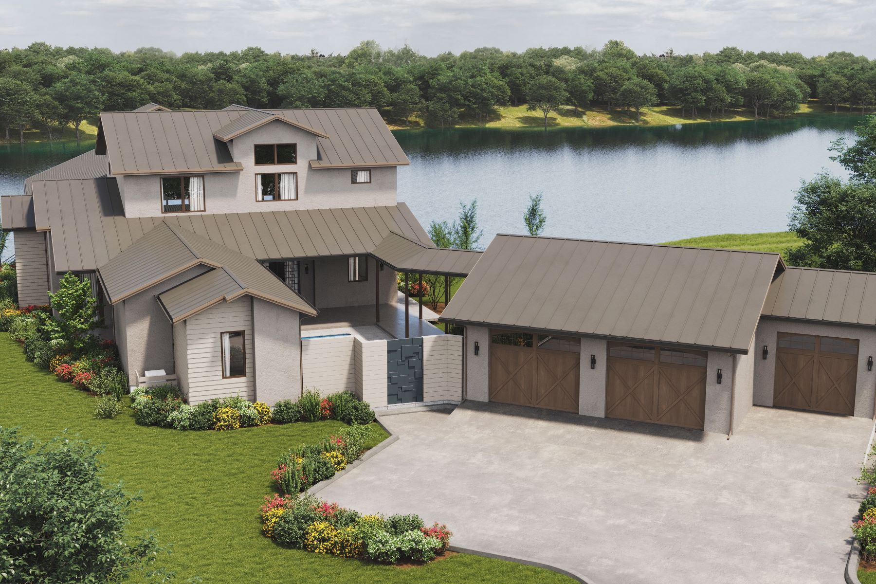 Single Family Homes for Active at New Construction on Lake LBJ 132 Ensenada Lane on Lake LBJ Horseshoe Bay, Texas 78657 United States