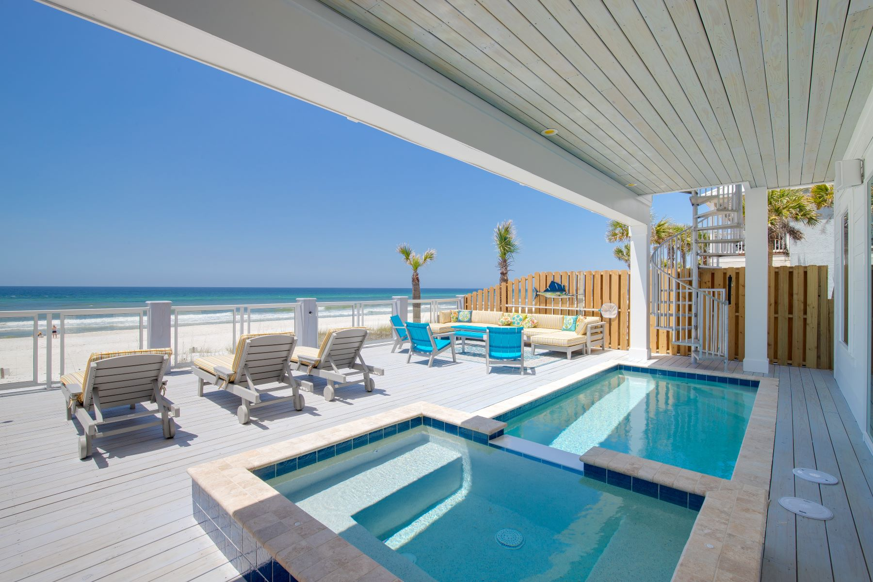 Single Family Homes for Sale at Gulf-front Custom Beach House with Impressive Space and Two Kitchens 20109 W Front Beach Road B Panama City Beach, Florida 32413 United States