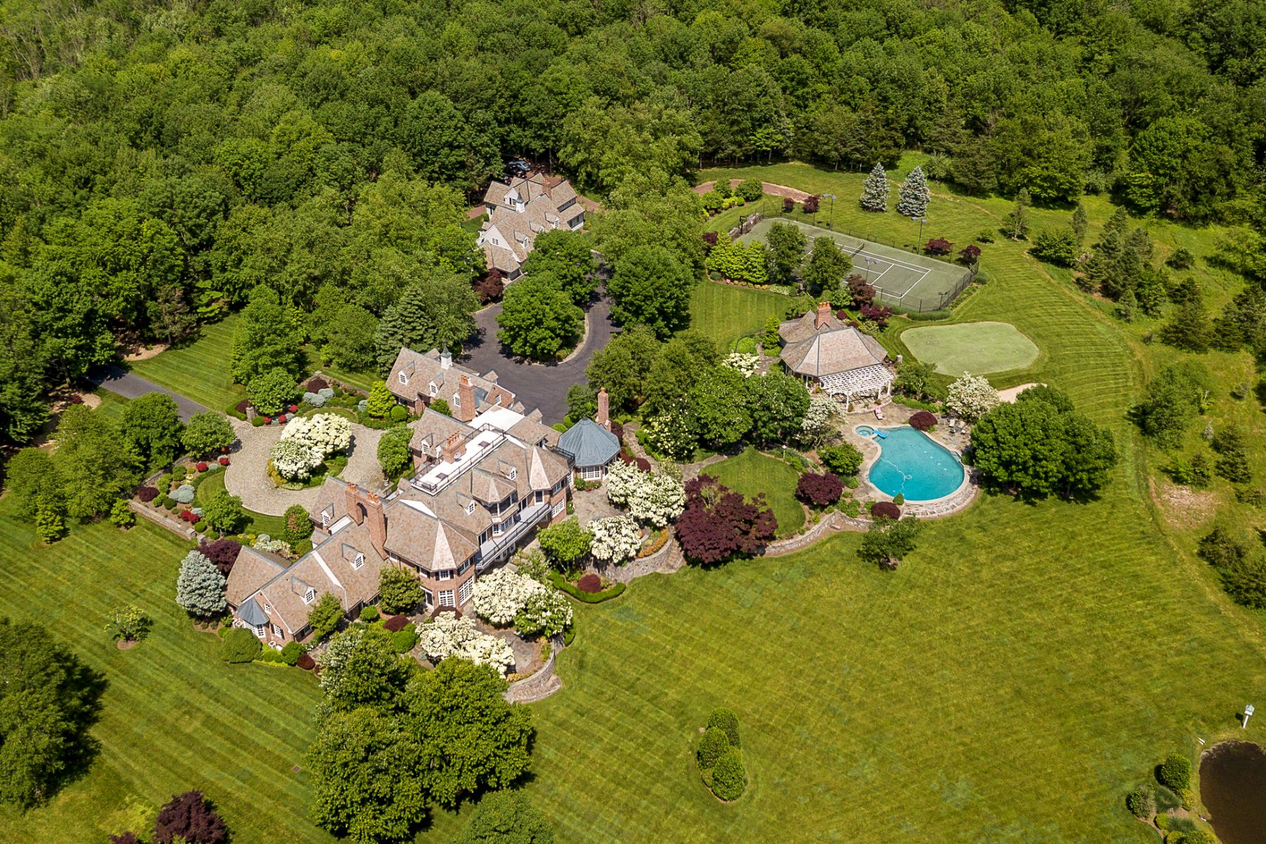 Property للـ Sale في Private Compound with Every Amenity Imaginable 82 Aunt Molly Road, Hopewell, New Jersey 08525 United States