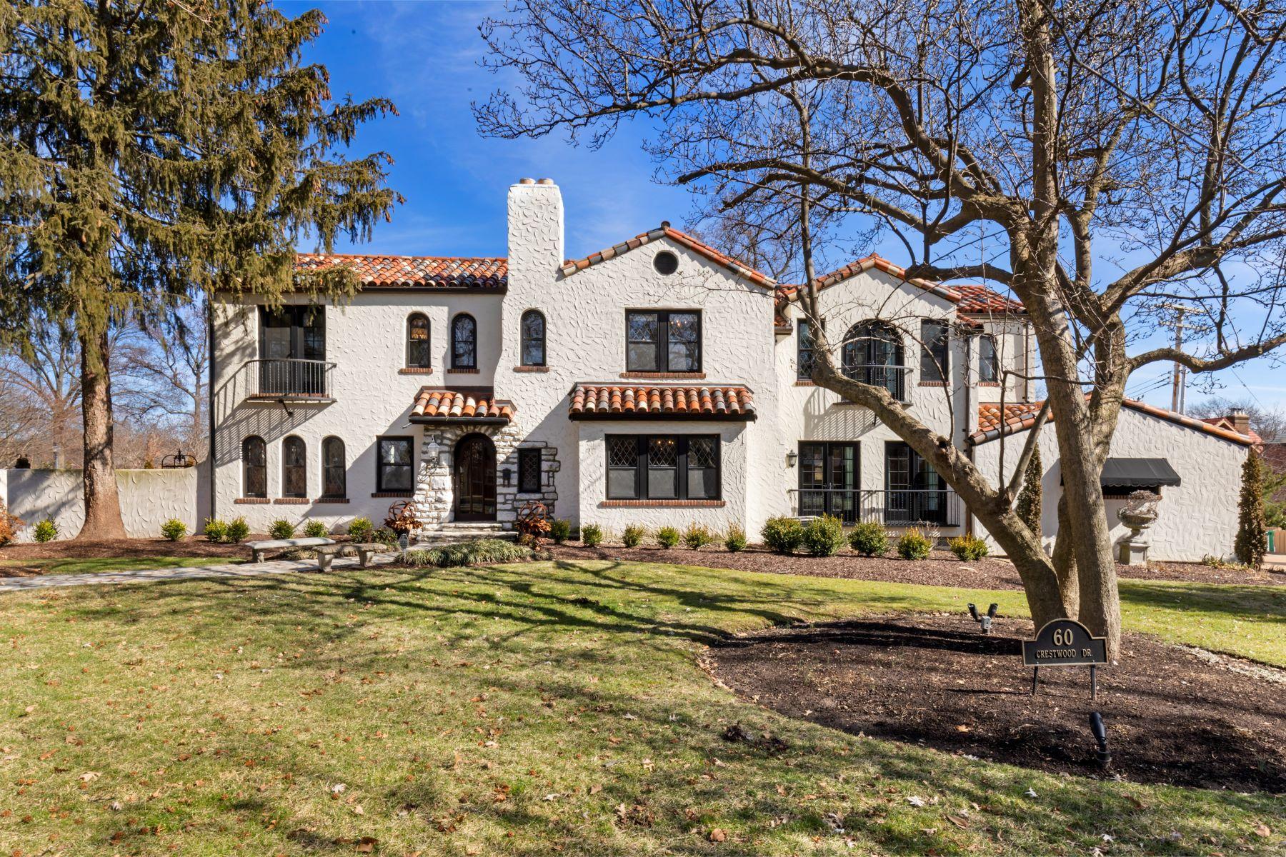 Single Family Homes 为 销售 在 Mediterranean Dream in Claverach Park 60 Crestwood Drive 克莱顿, 密苏里州 63105 美国