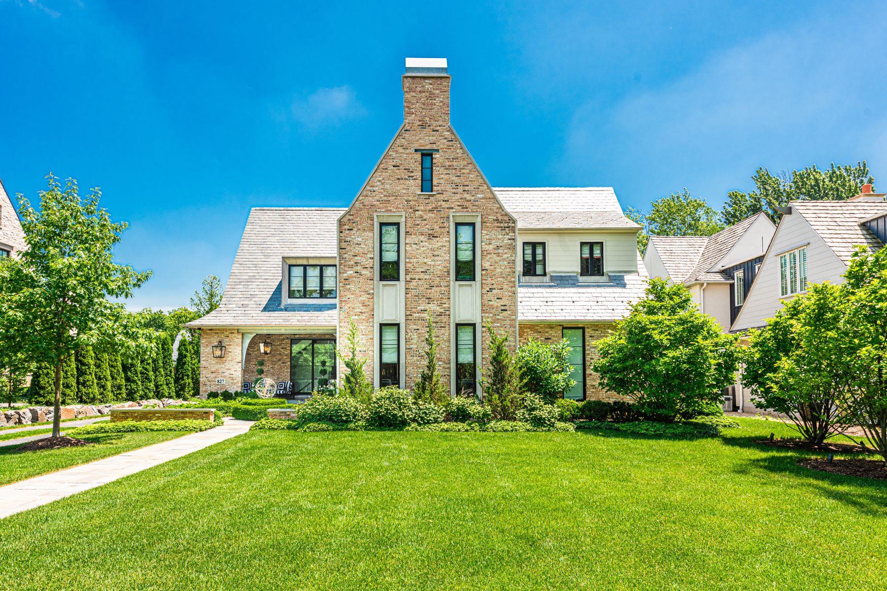 Single Family Homes para Venda às One of a Kind Custom Home 827 S Oak Street, Hinsdale, Illinois 60521 Estados Unidos
